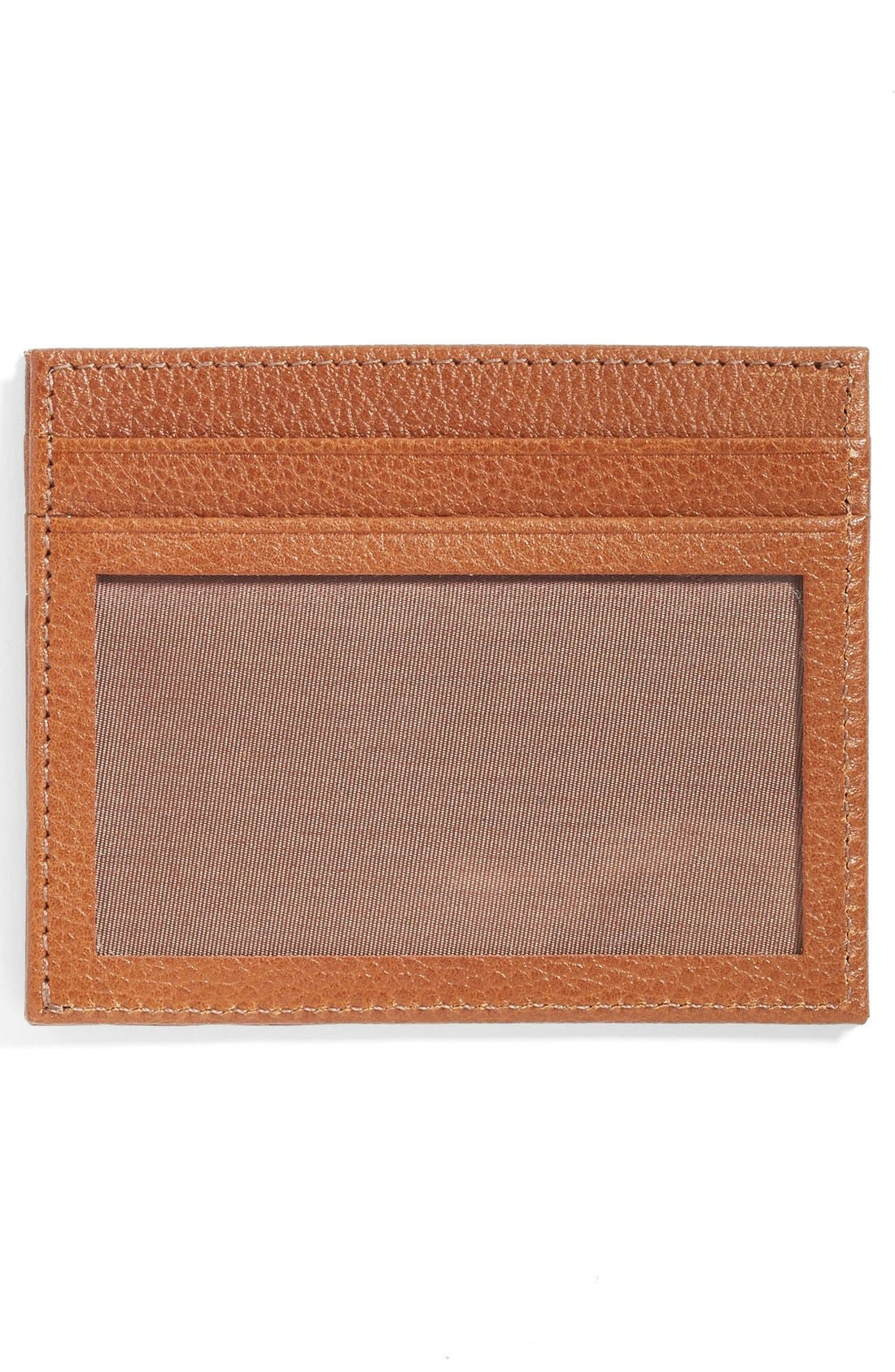 Executive Leather Card Case,                             Alternate thumbnail 2, color,                             Chestnut