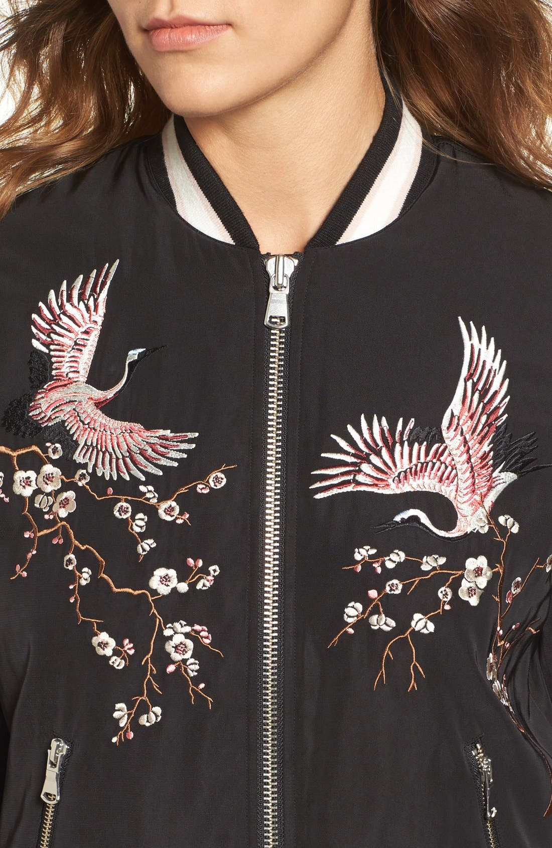 Alternate Image 4  - Trouvé Embroidered Bomber Jacket