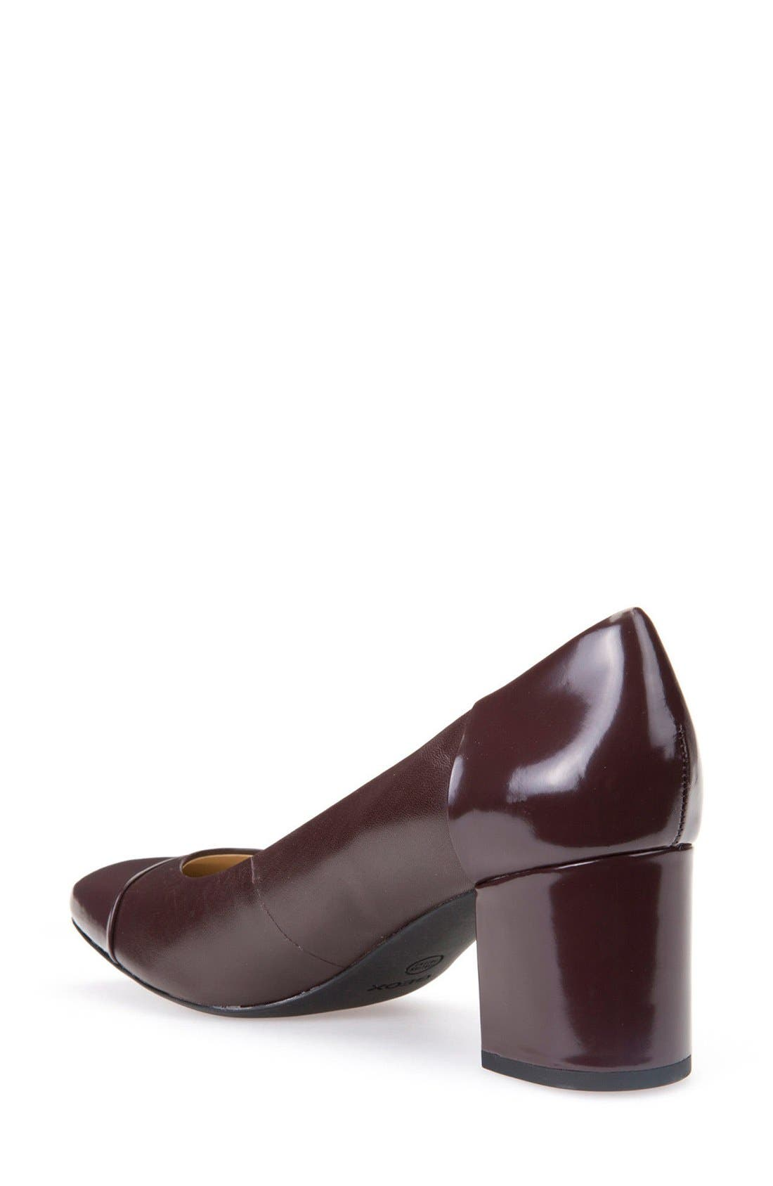 Alternate Image 2  - Geox New Symphony Cap Toe Pump (Women)