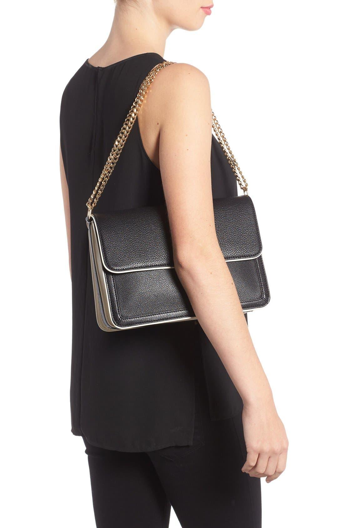 Alternate Image 2  - Tory Burch Large Duet Leather Shoulder Bag