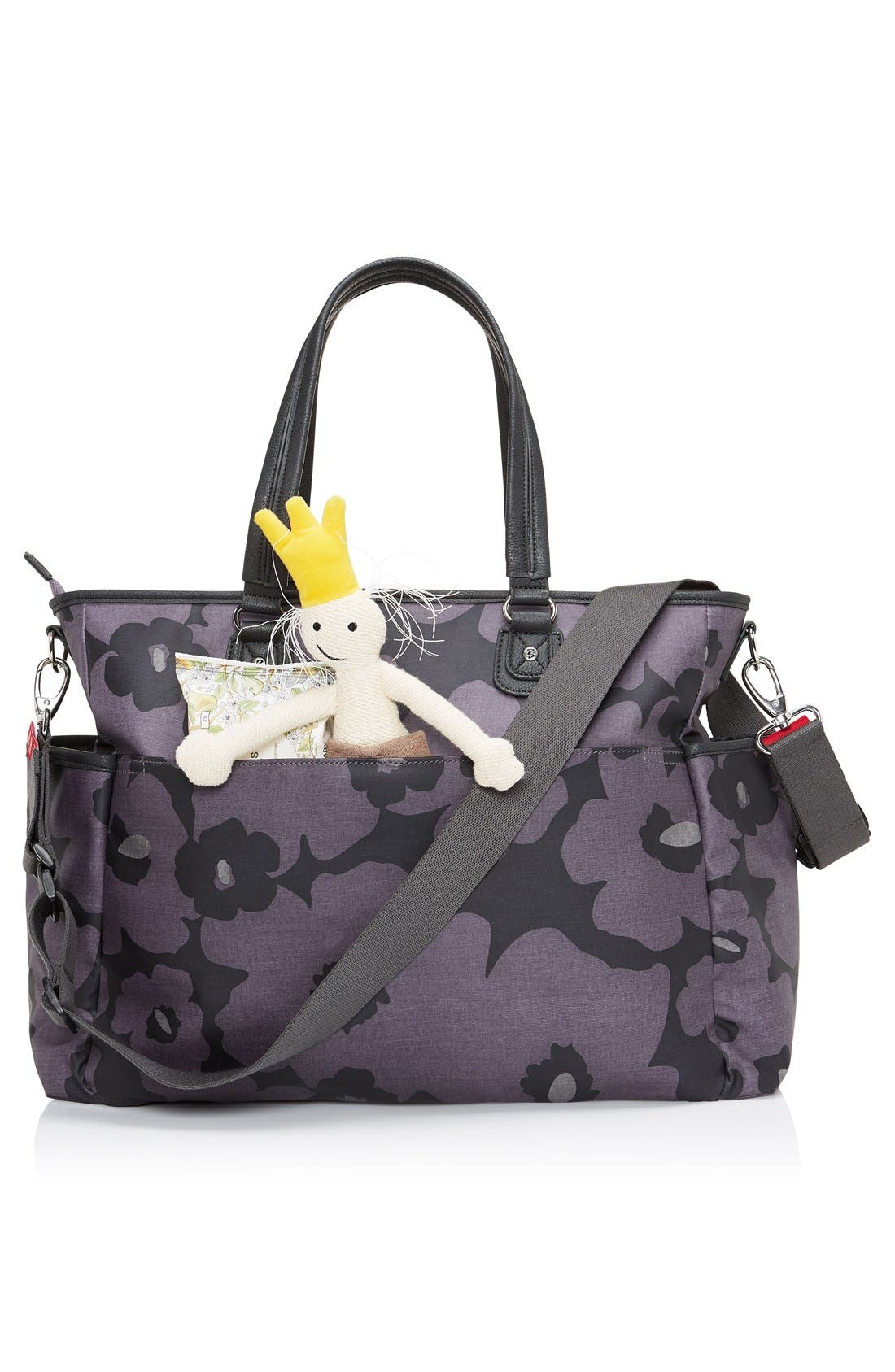 Bella Diaper Bag,                             Alternate thumbnail 2, color,                             Floral Grey