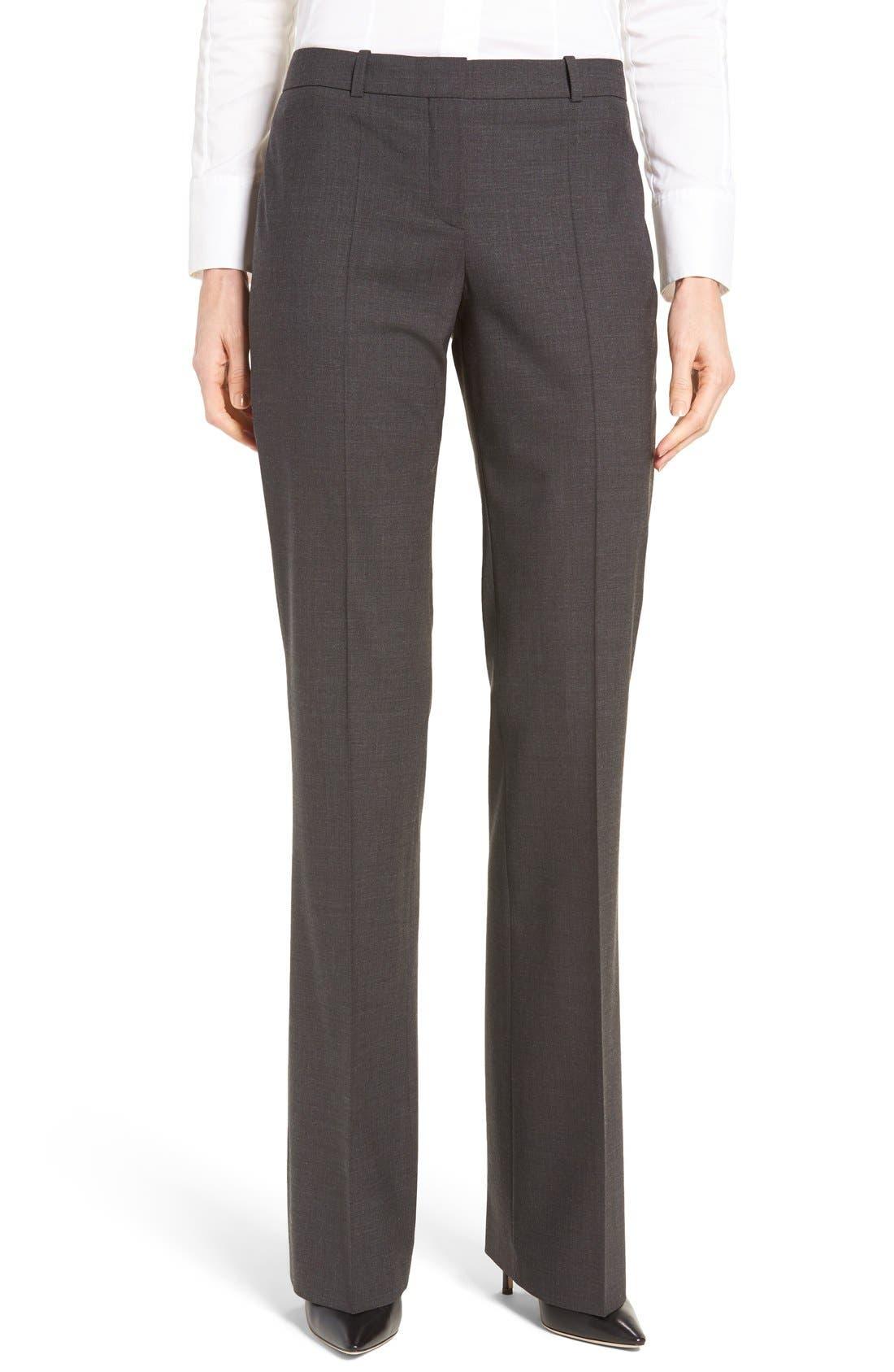 BOSS Tulea3 Bootcut Wool Trousers