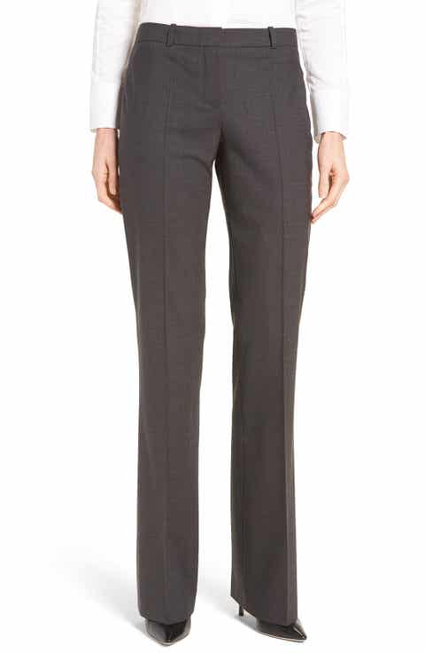 BOSS Tulea3 Bootcut Wool Trousers