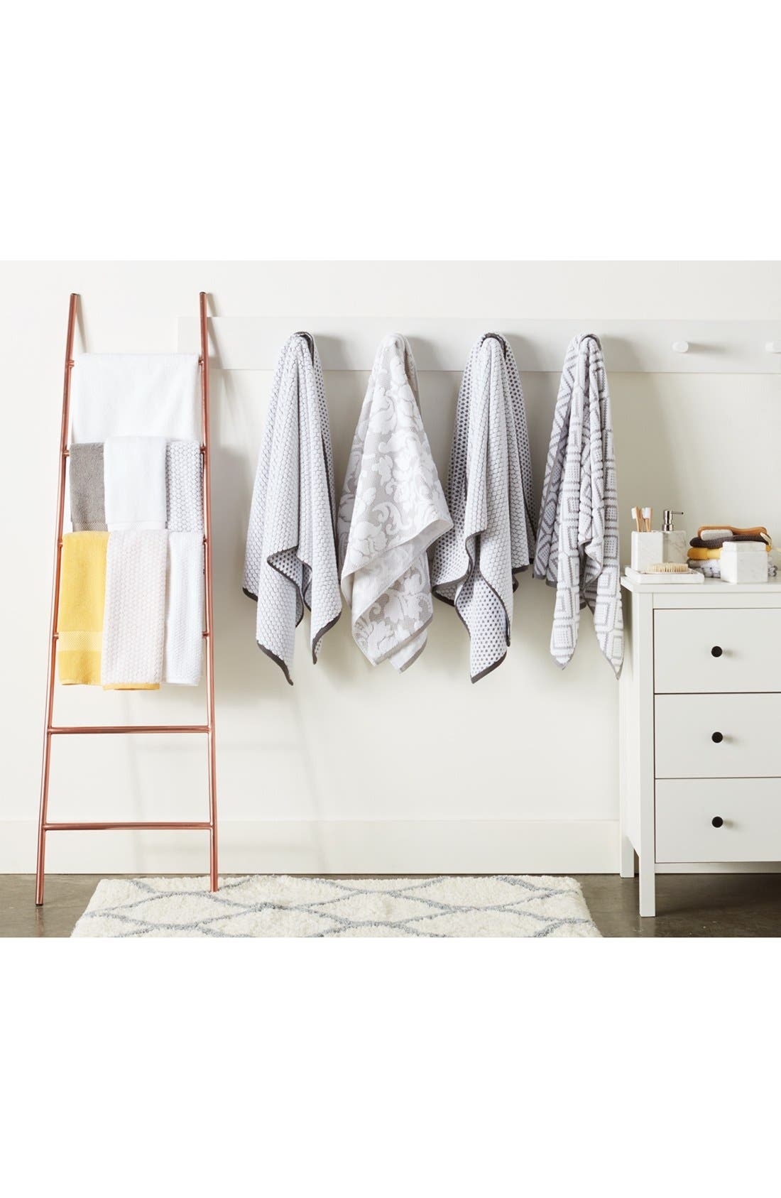 Cobble Bath Towel,                             Alternate thumbnail 4, color,