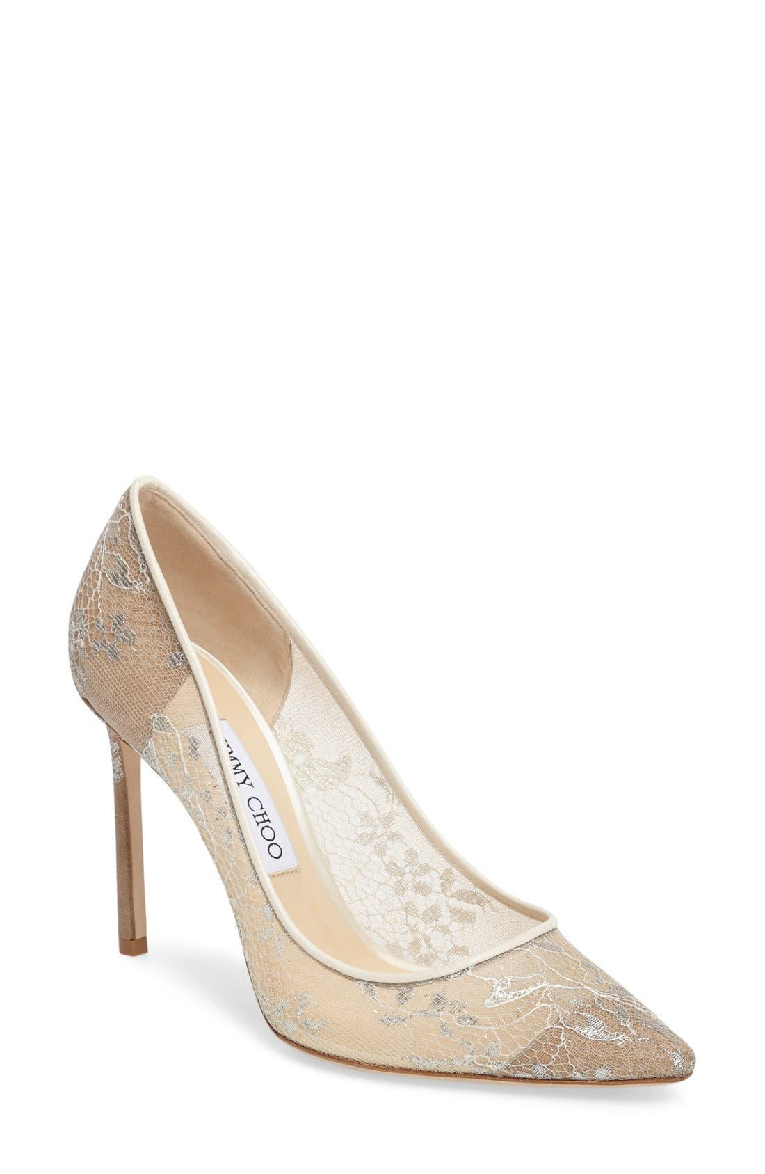 Alternate Image 1 Selected - Jimmy Choo 'Romy' Lace Pump (Women)