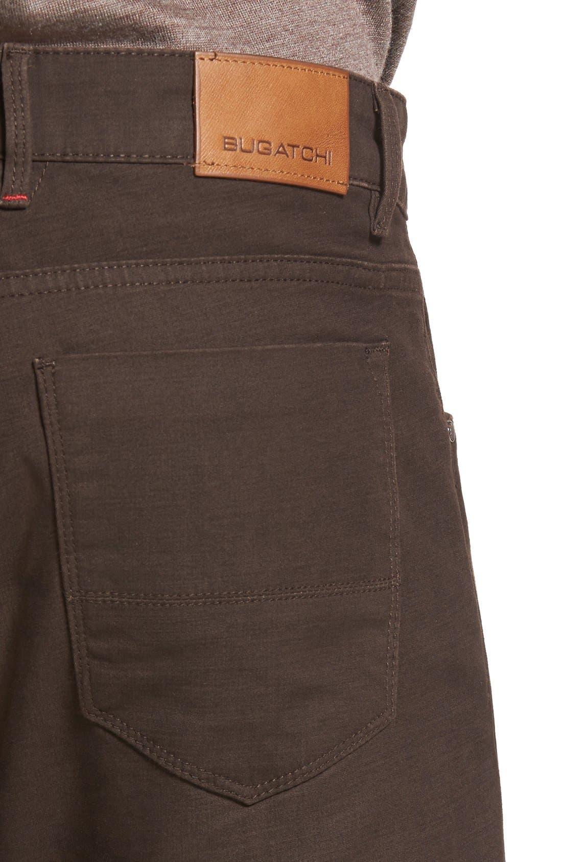 Slim Fit Five-Pocket Pants,                             Alternate thumbnail 4, color,                             Mocha