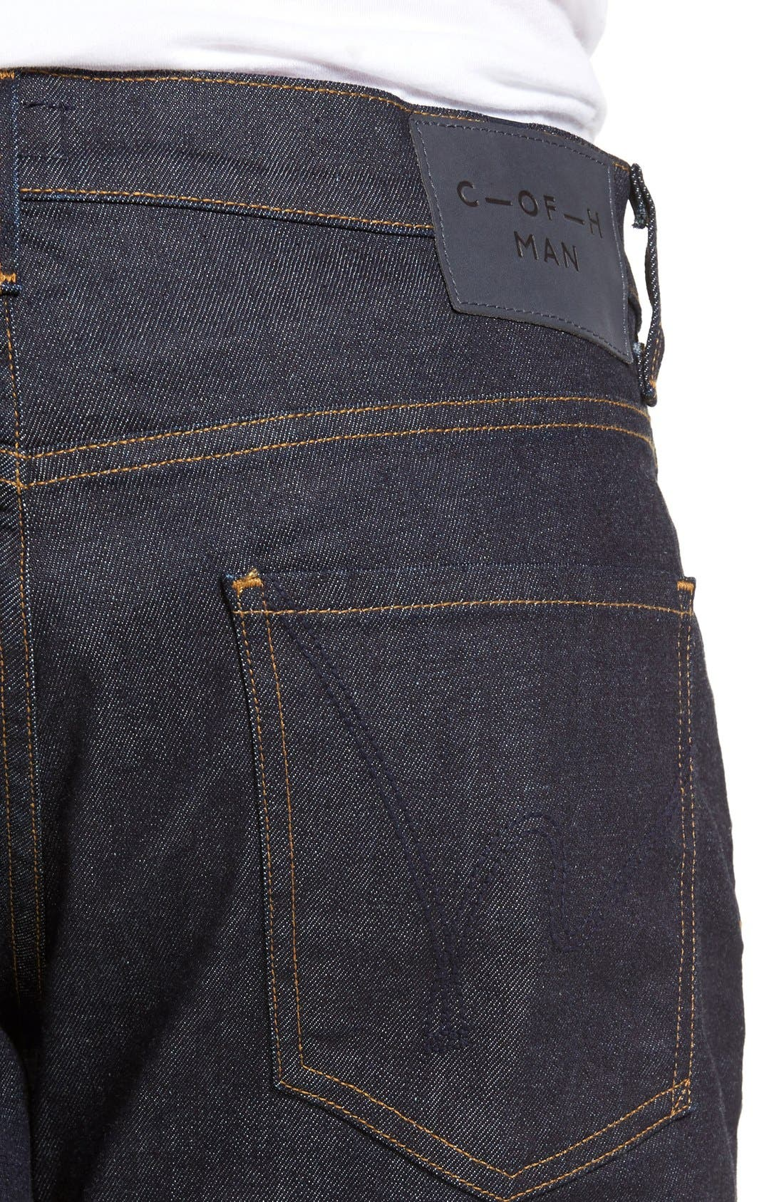 Sid Classic Straight Leg Jeans,                             Alternate thumbnail 4, color,                             Lafayette