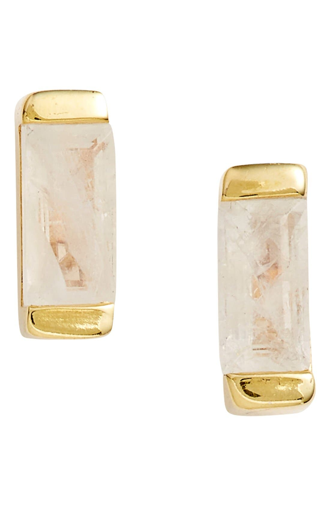 LEAH ALEXANDRA Semiprecious Stone Stud Earrings