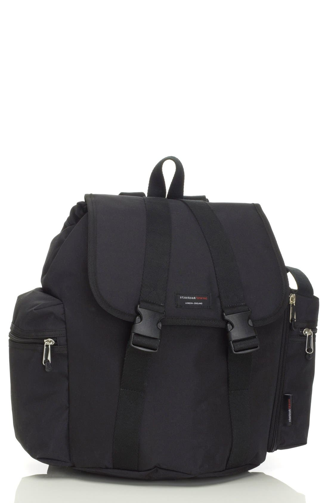 Alternate Image 1 Selected - Storksak Travel Backpack Diaper Bag