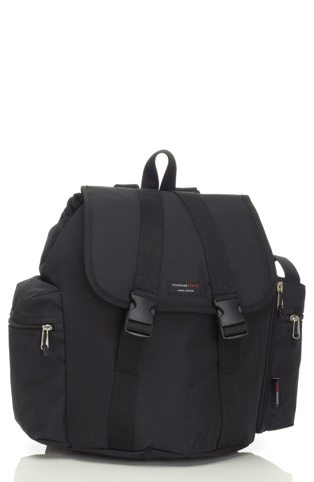 Main Image - Storksak Travel Backpack Diaper Bag