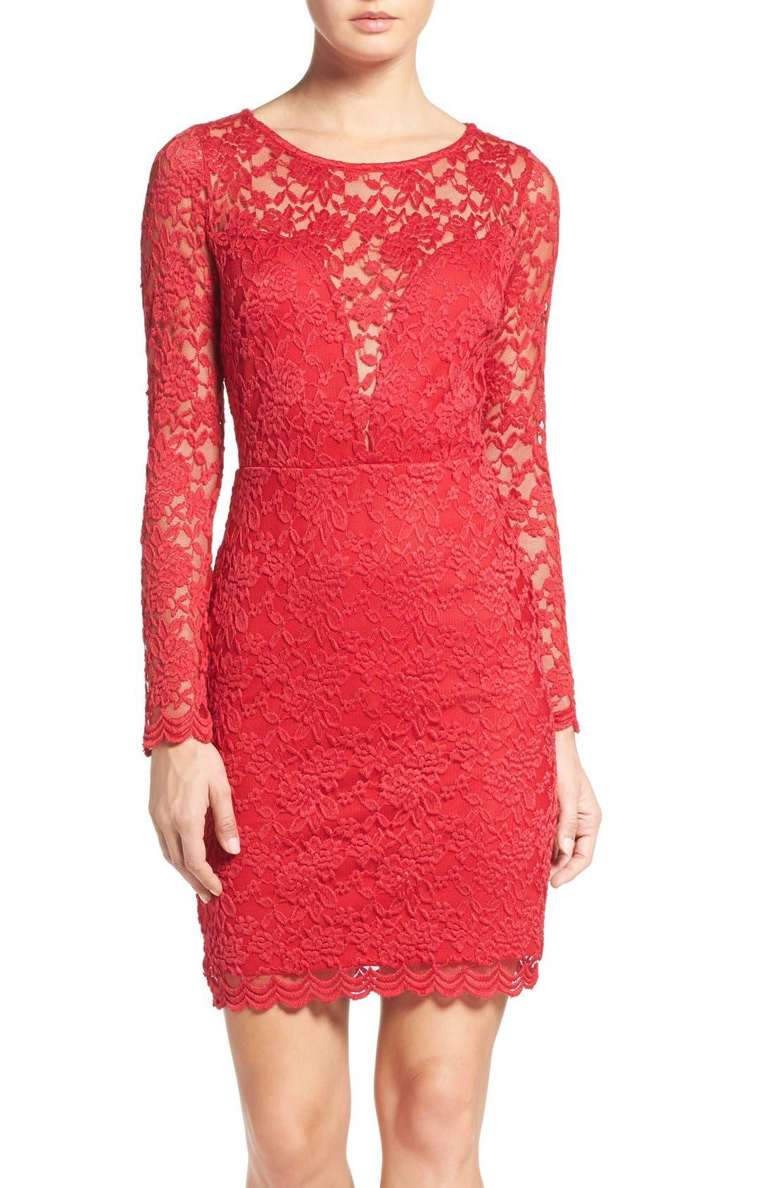 FRAICHE BY J Lace Body-Con Dress