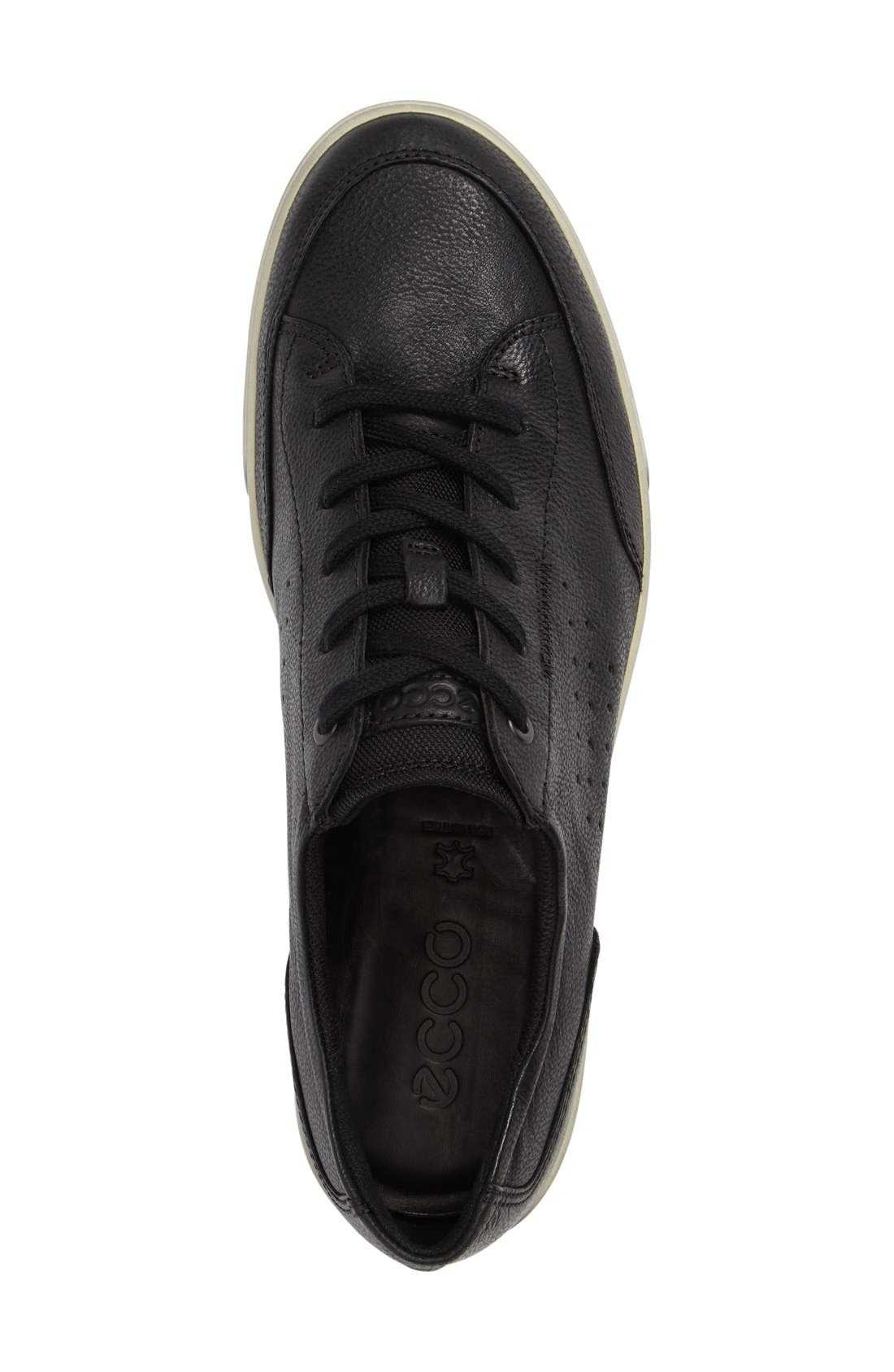 'Collin - Classic' Sneaker,                             Alternate thumbnail 3, color,                             Black Leather