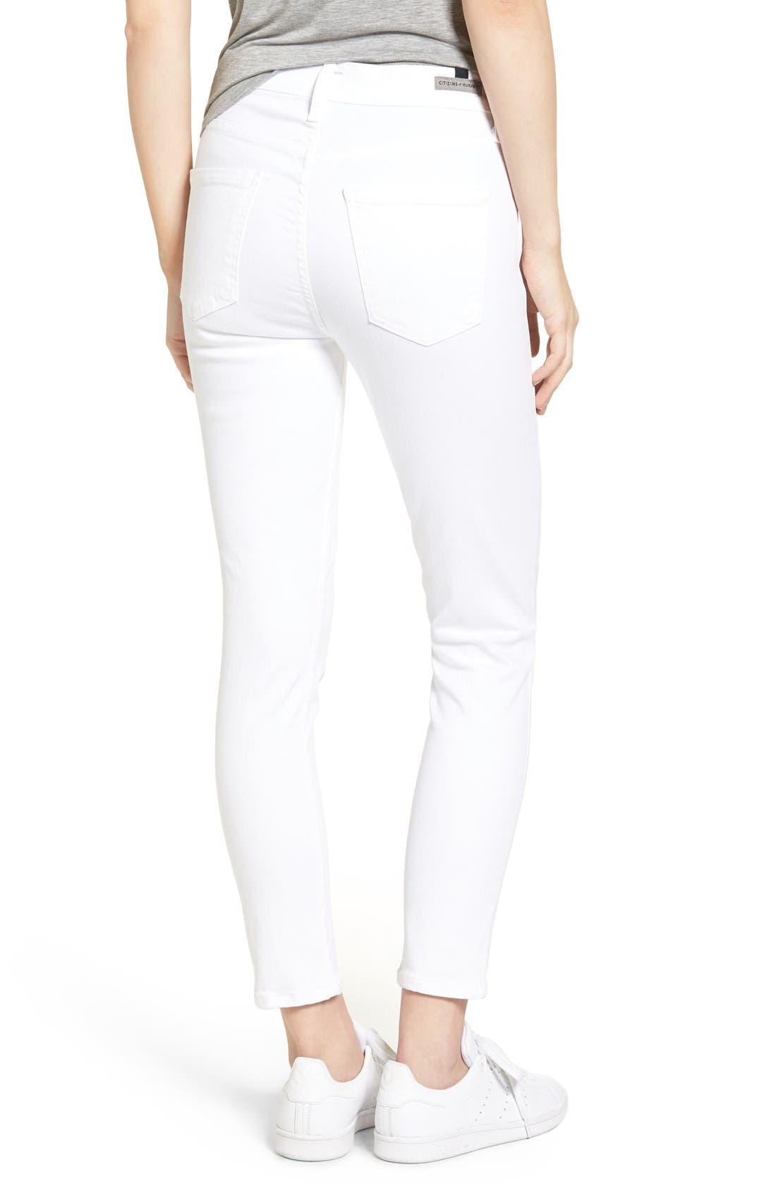 Alternate Image 2  - Citizens of Humanity Rocket High Waist Crop Skinny Jeans (Sculpt White)