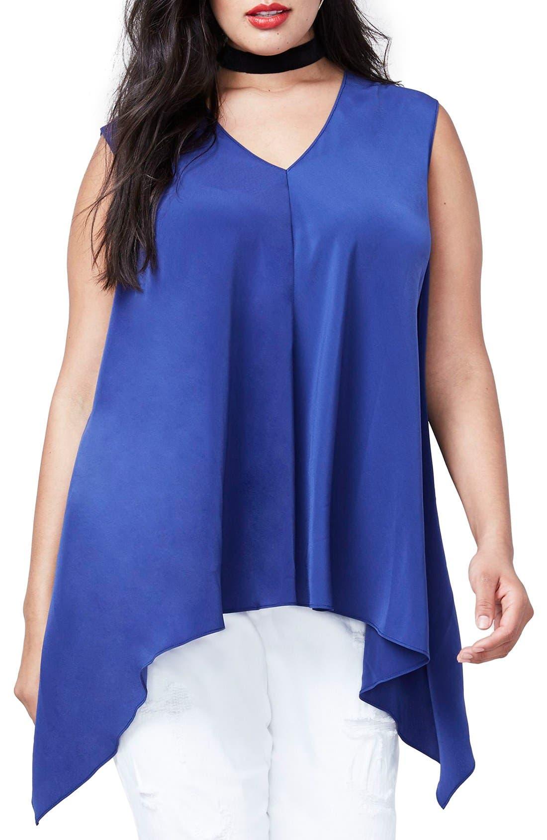 Main Image - RACHEL Rachel Roy Side Drape Top (Plus Size)