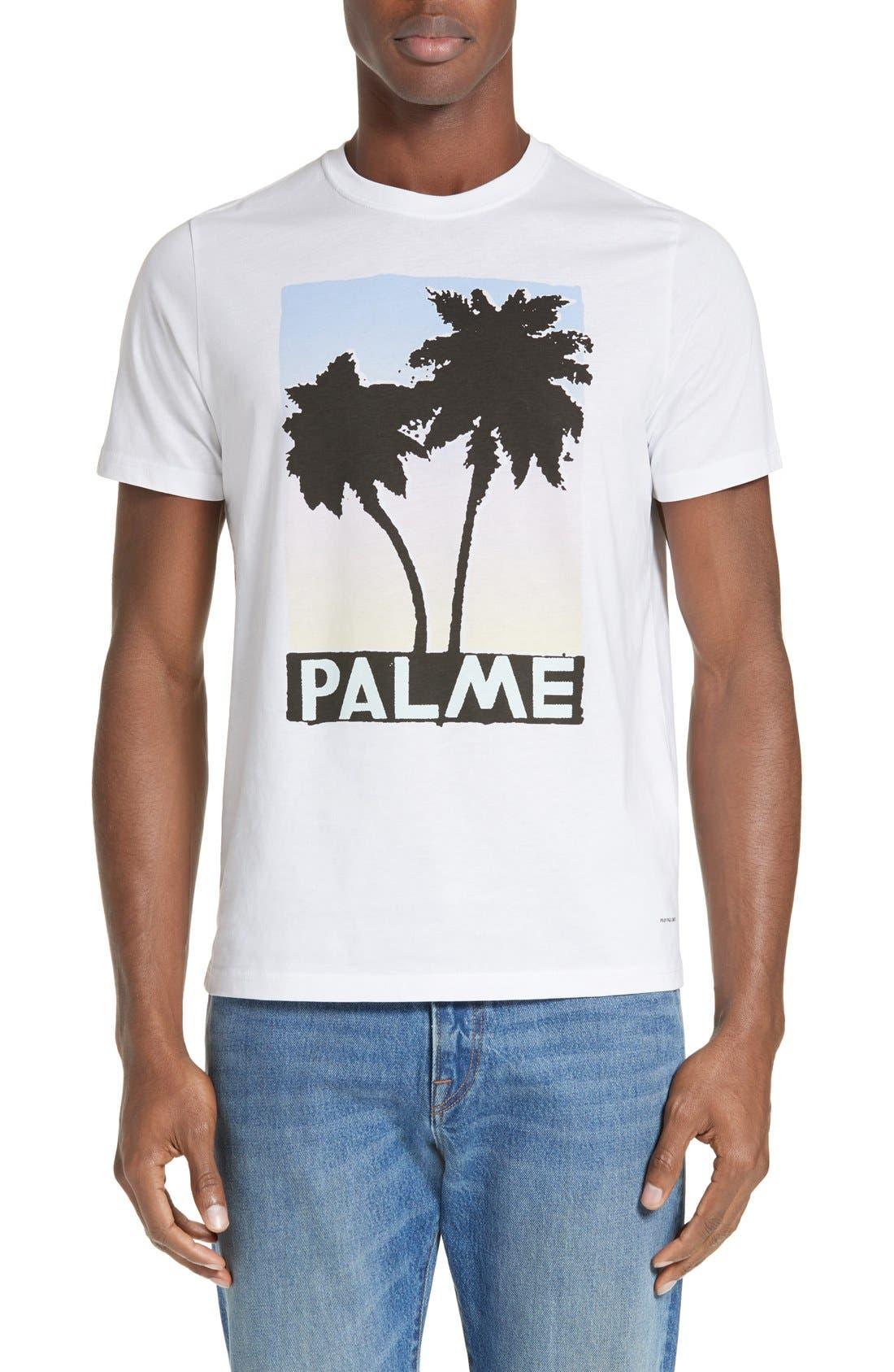 Palm Screen T-Shirt,                             Main thumbnail 1, color,                             White