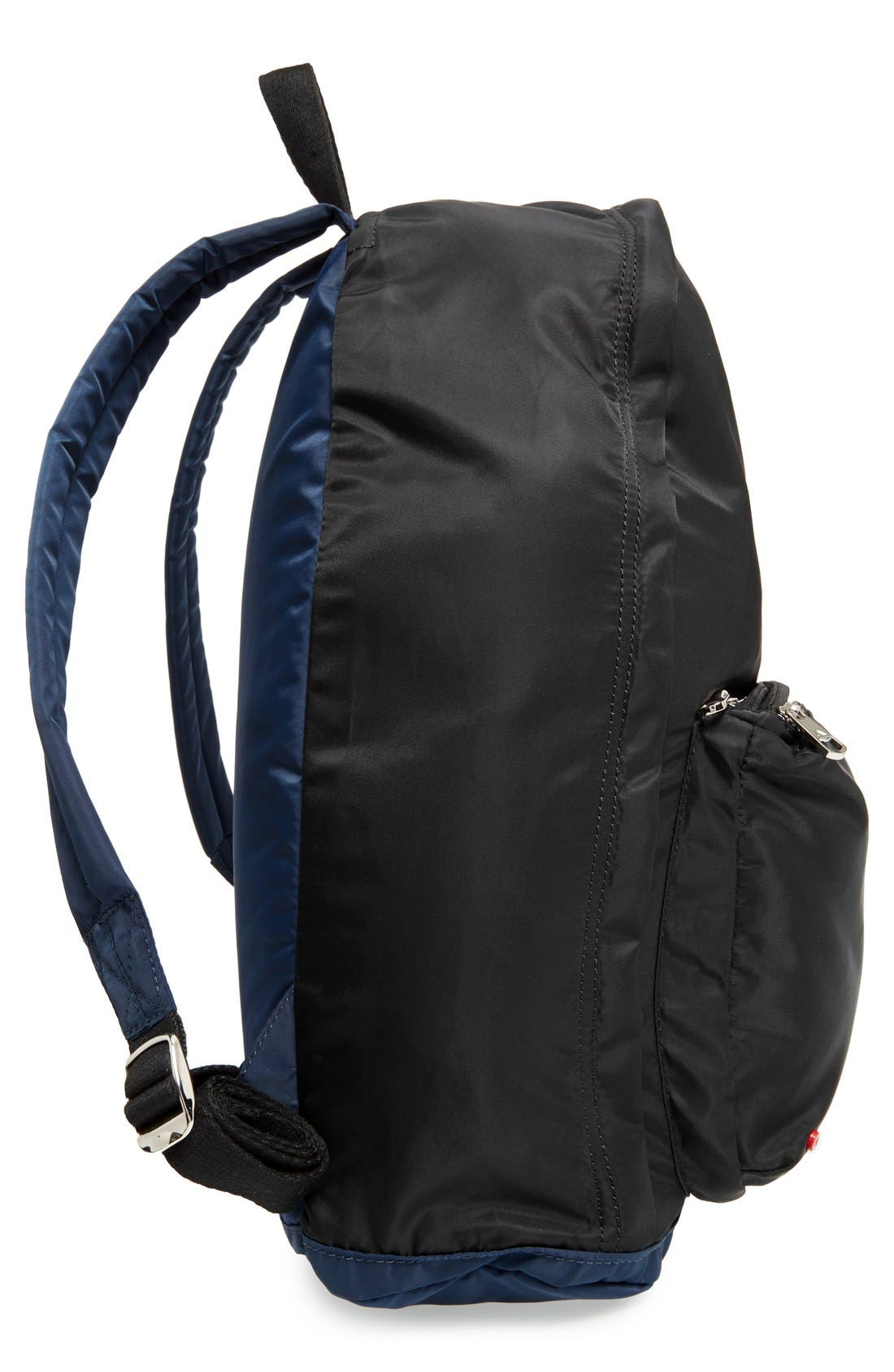 The Heights Adams Backpack,                             Alternate thumbnail 6, color,                             Black/ Navy