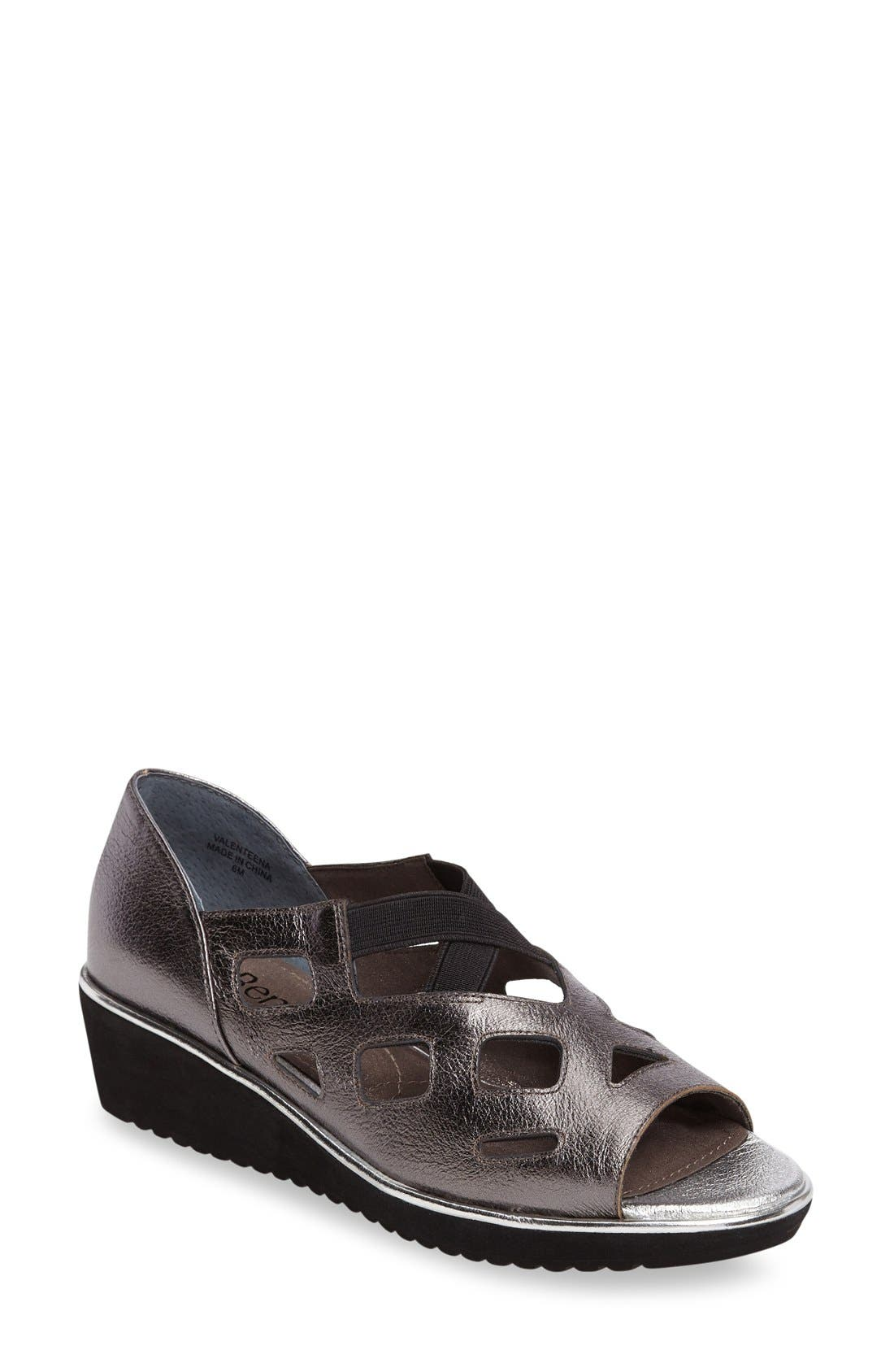 J. Reneé Valent Cut Out Wedge Sandal (Women)