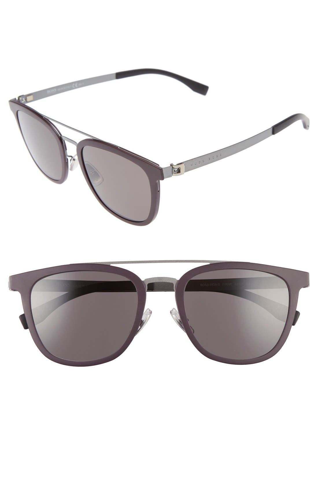 838/S 52mm Sunglasses,                         Main,                         color, Burgundy/ Ruthenium