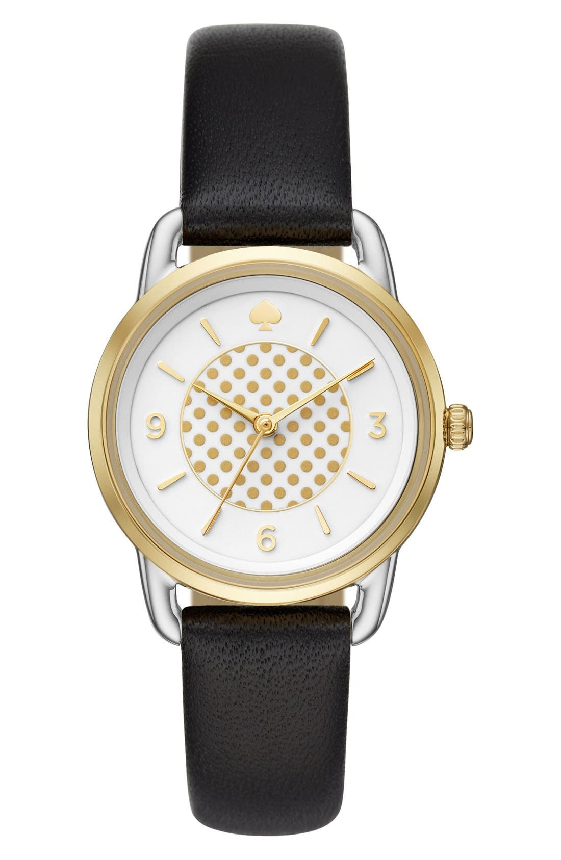 KATE SPADE NEW YORK boathouse leather strap watch, 30mm