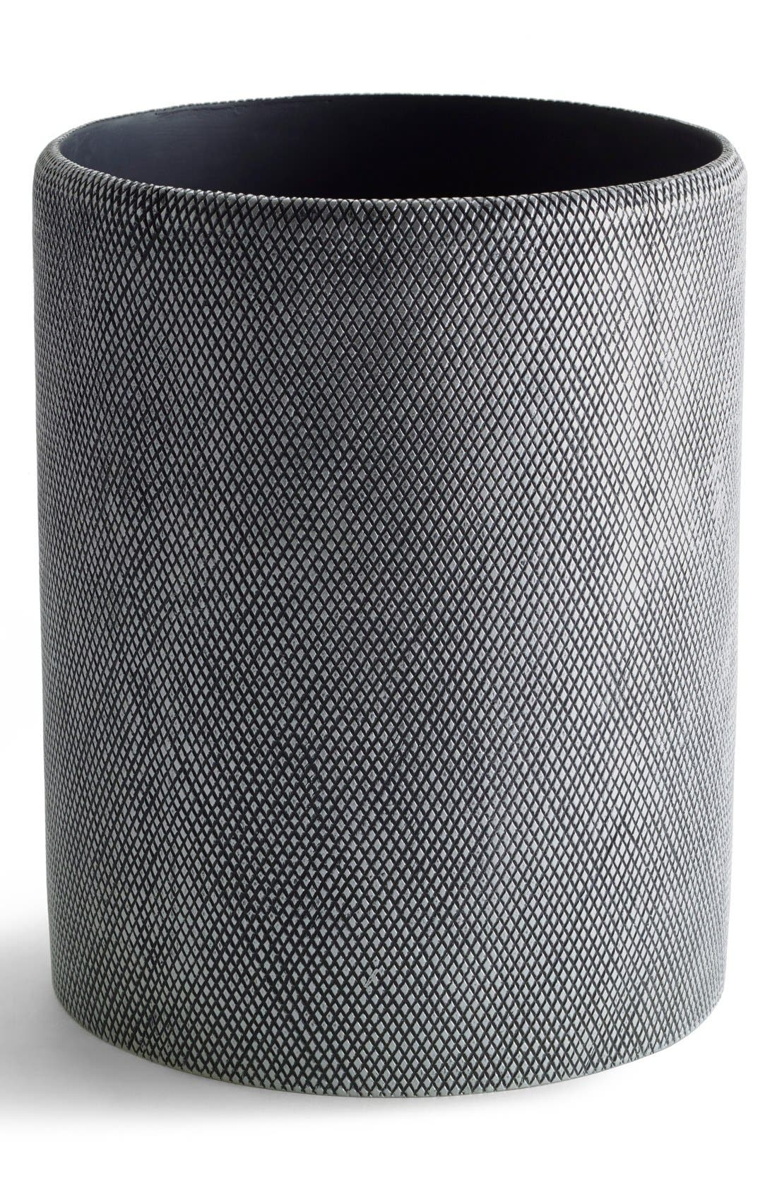 Etched Wastebasket,                             Main thumbnail 1, color,                             Grey
