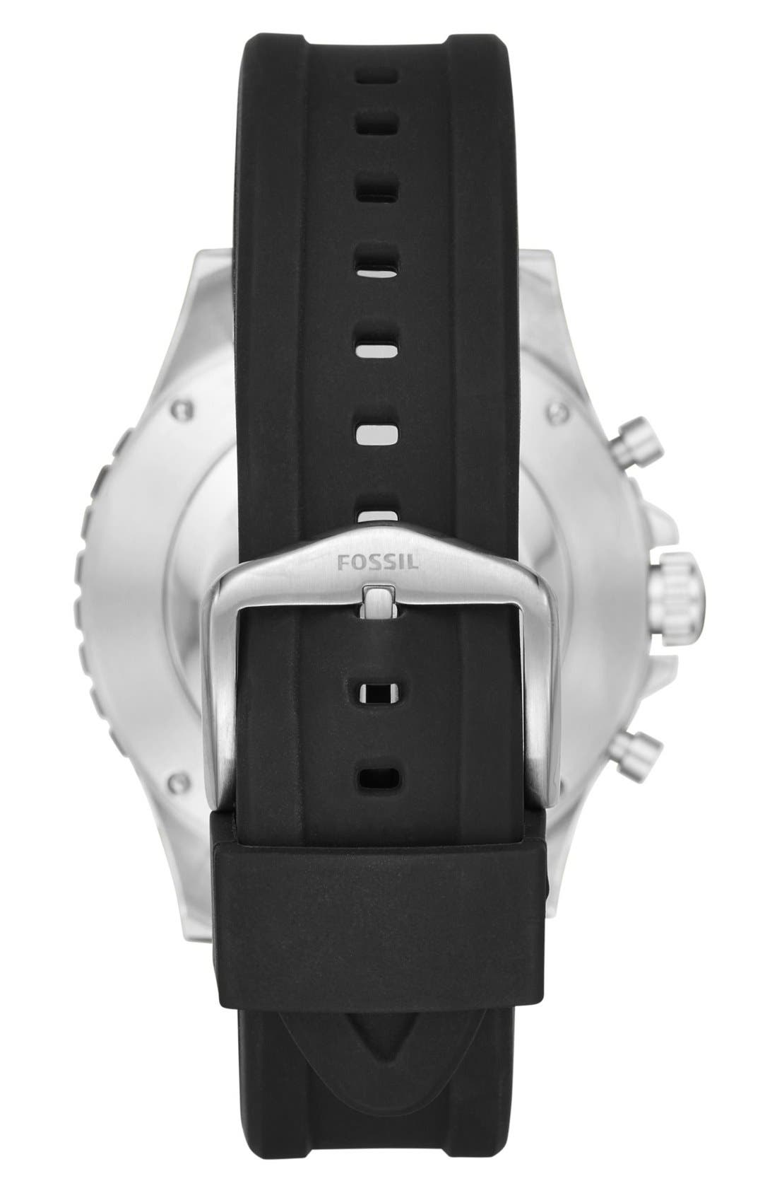 Crewmaster Silicone Strap Smart Watch, 46mm,                             Alternate thumbnail 2, color,                             Black