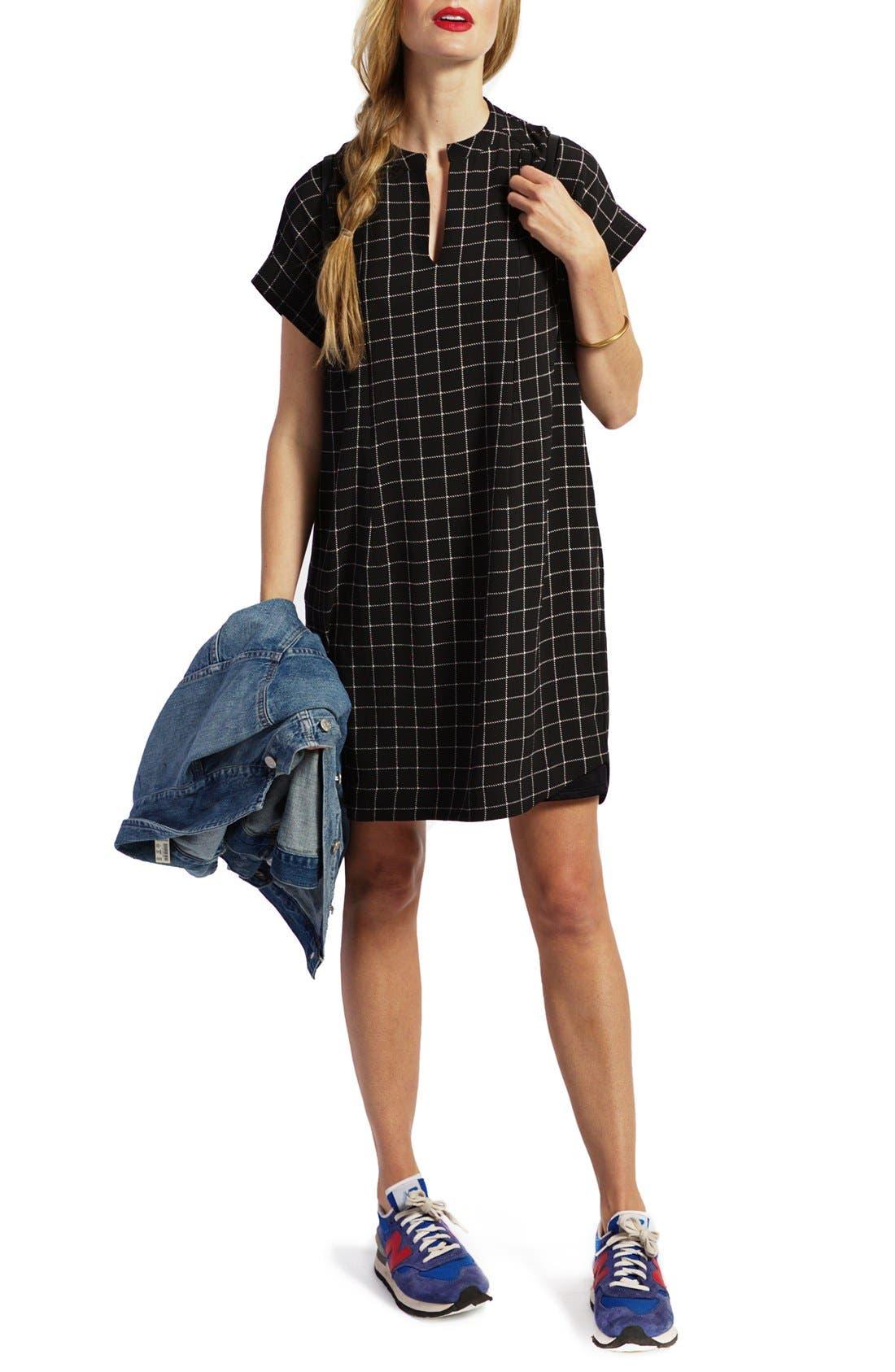 LOYAL HANA Riley Plaid Maternity/Nursing Shirtdress
