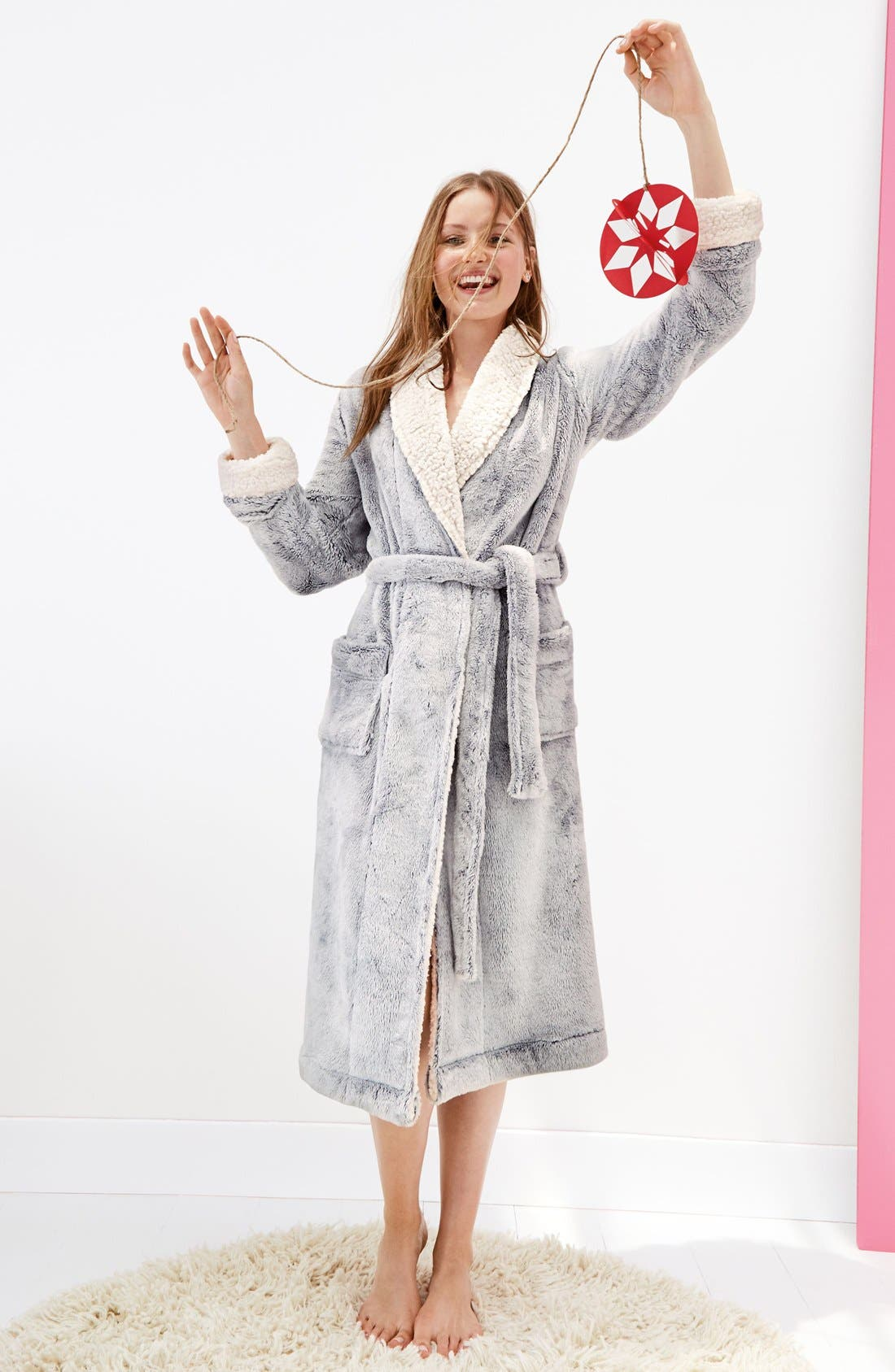 Frosted Plush Robe,                             Alternate thumbnail 6, color,
