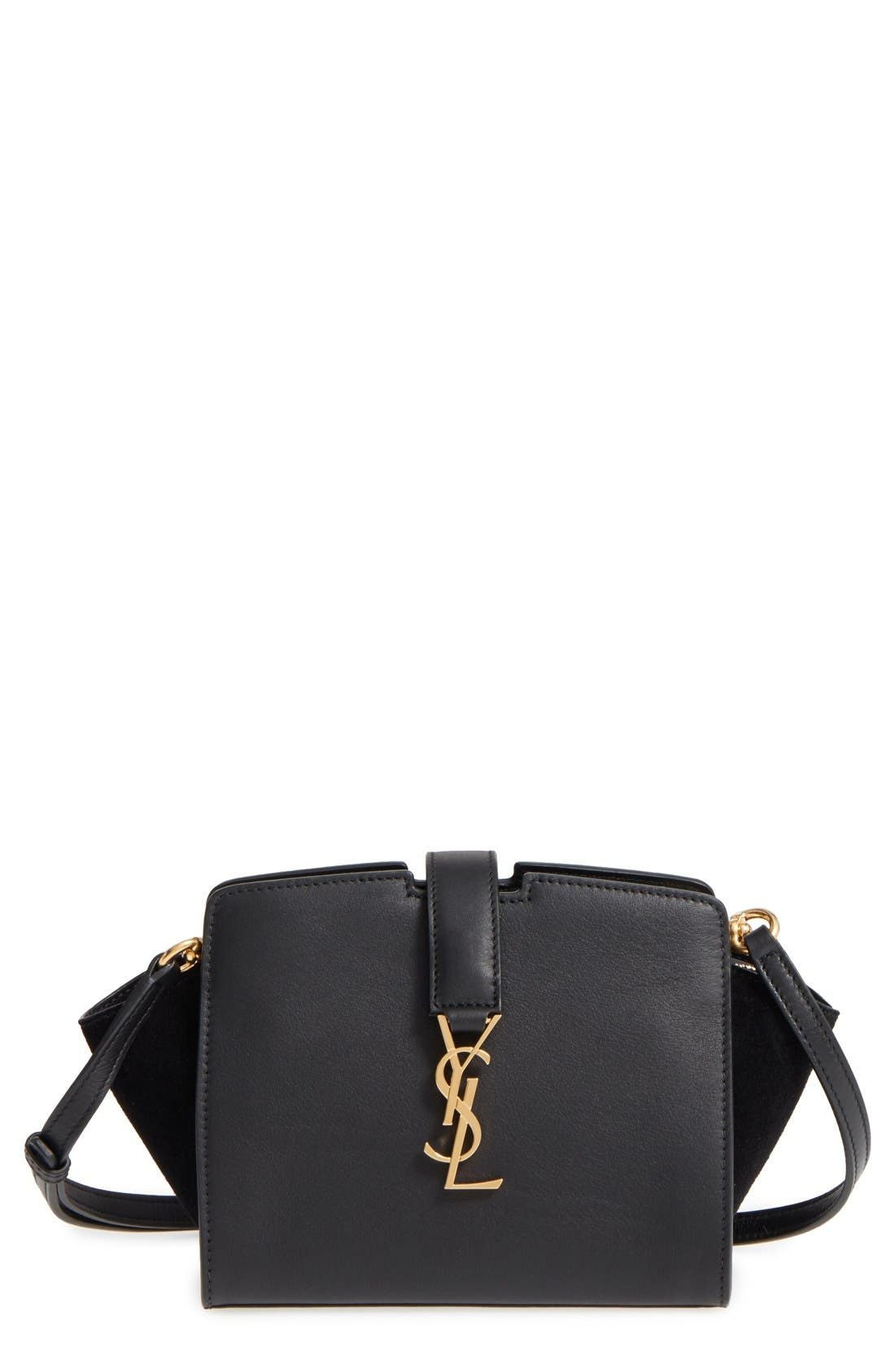 Alternate Image 1 Selected - Saint Laurent Toy Cabas Leather Crossbody Bag