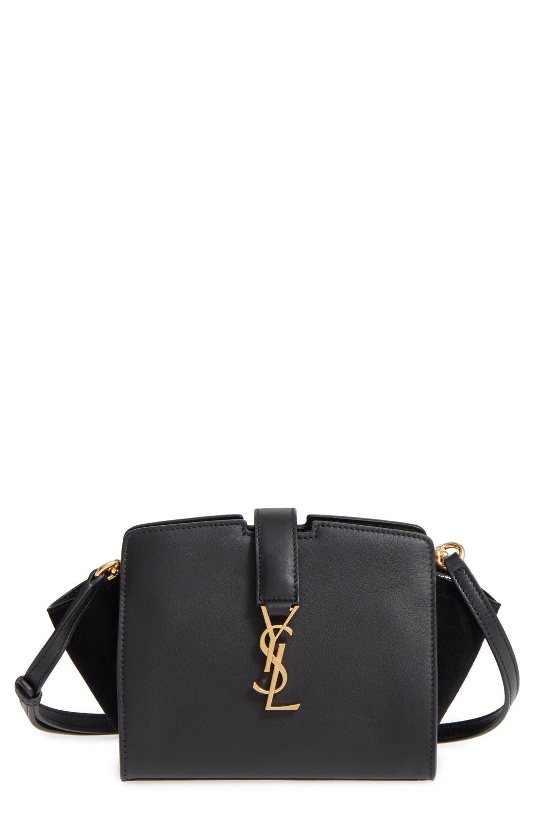 Main Image - Saint Laurent Toy Cabas Leather Crossbody Bag