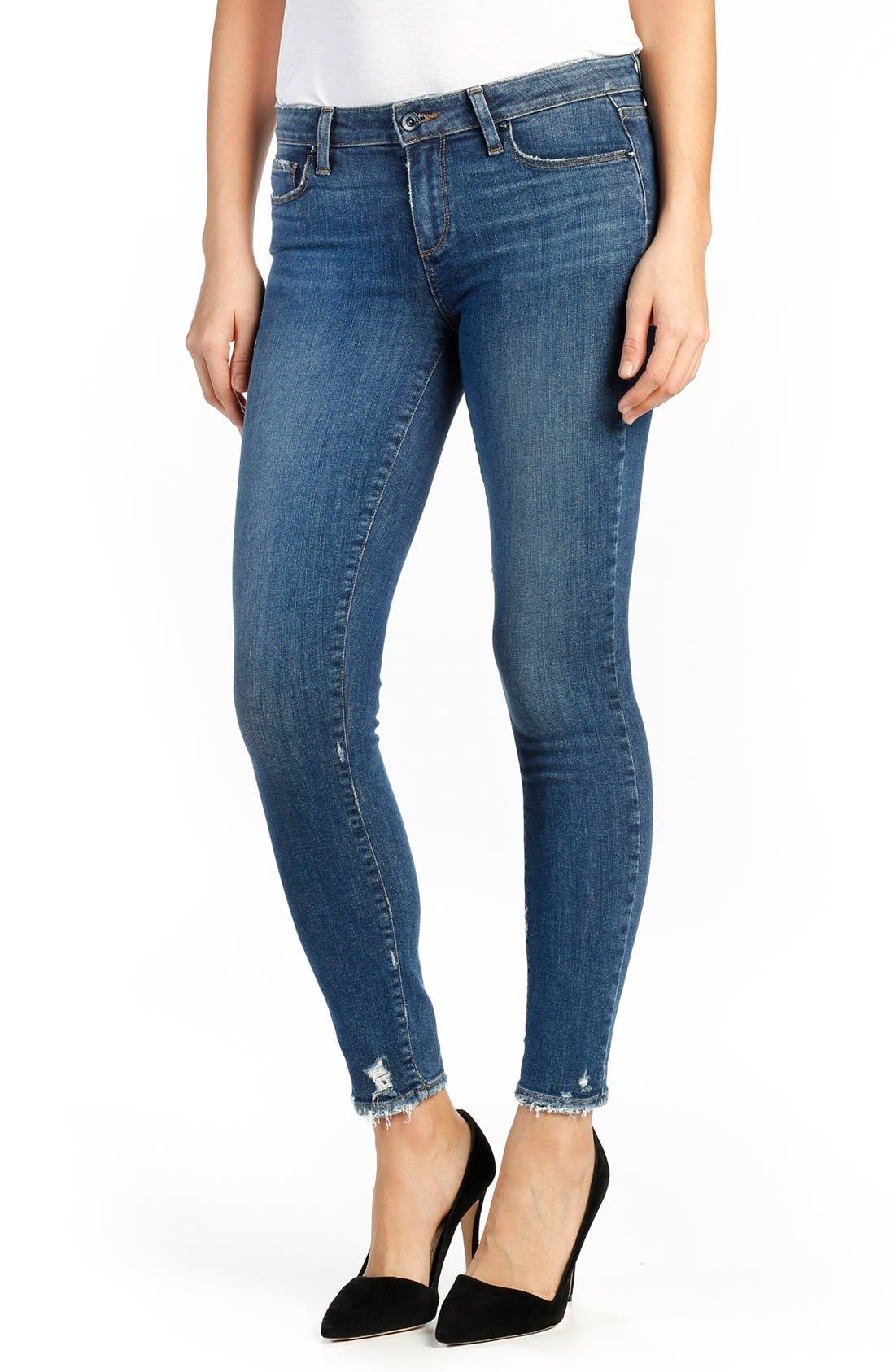 PAIGE Verdugo Distressed Ankle Skinny Jeans (Nash)