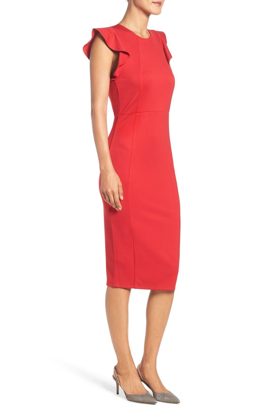 Alternate Image 3  - Felicity & Coco Capriana Ruffle Sheath Dress (Regular & Petite) (Nordstrom Exclusive)