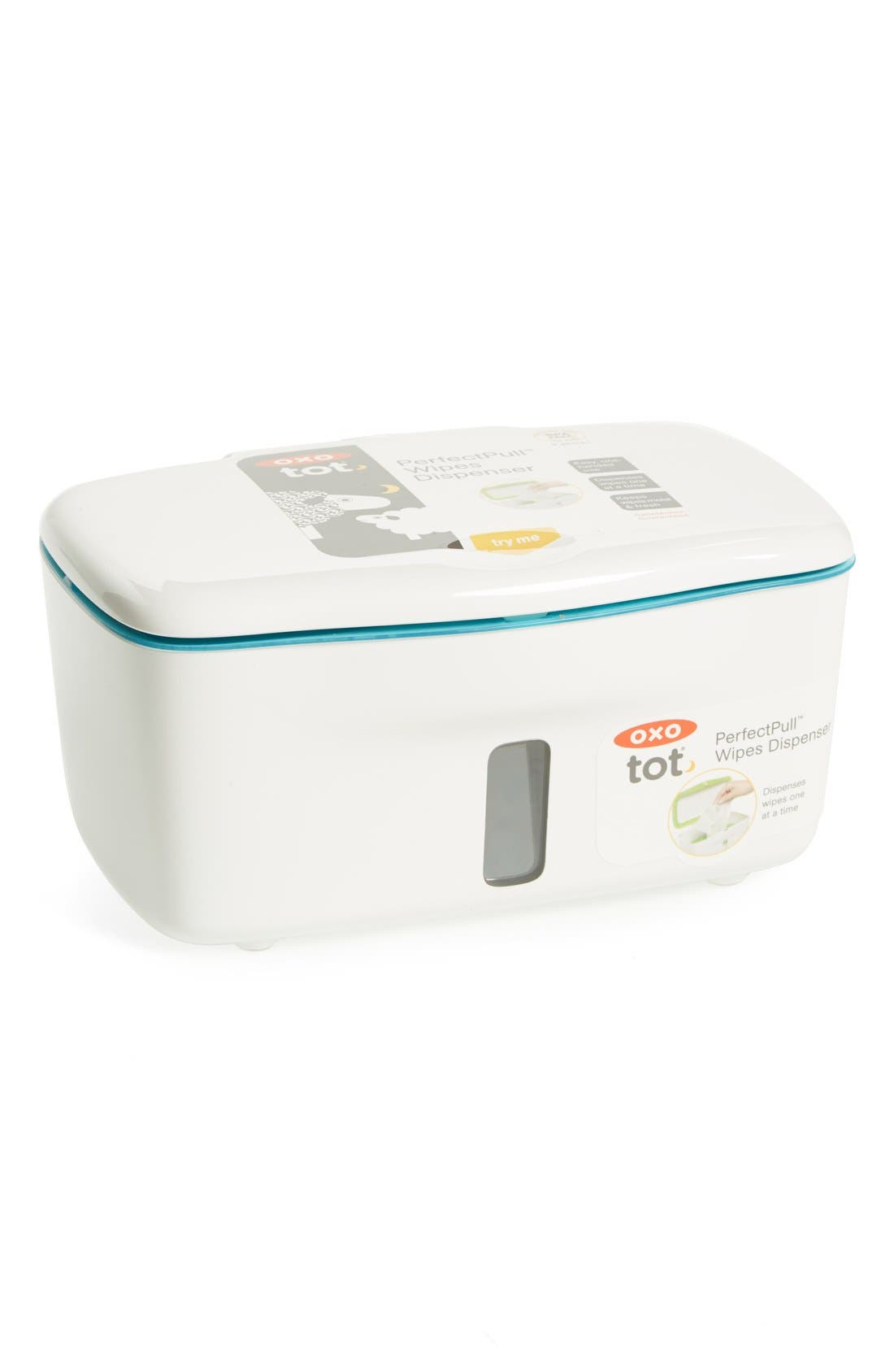 'Perfect Pull<sup>™</sup>' Wipes Dispenser,                             Main thumbnail 1, color,                             Blue
