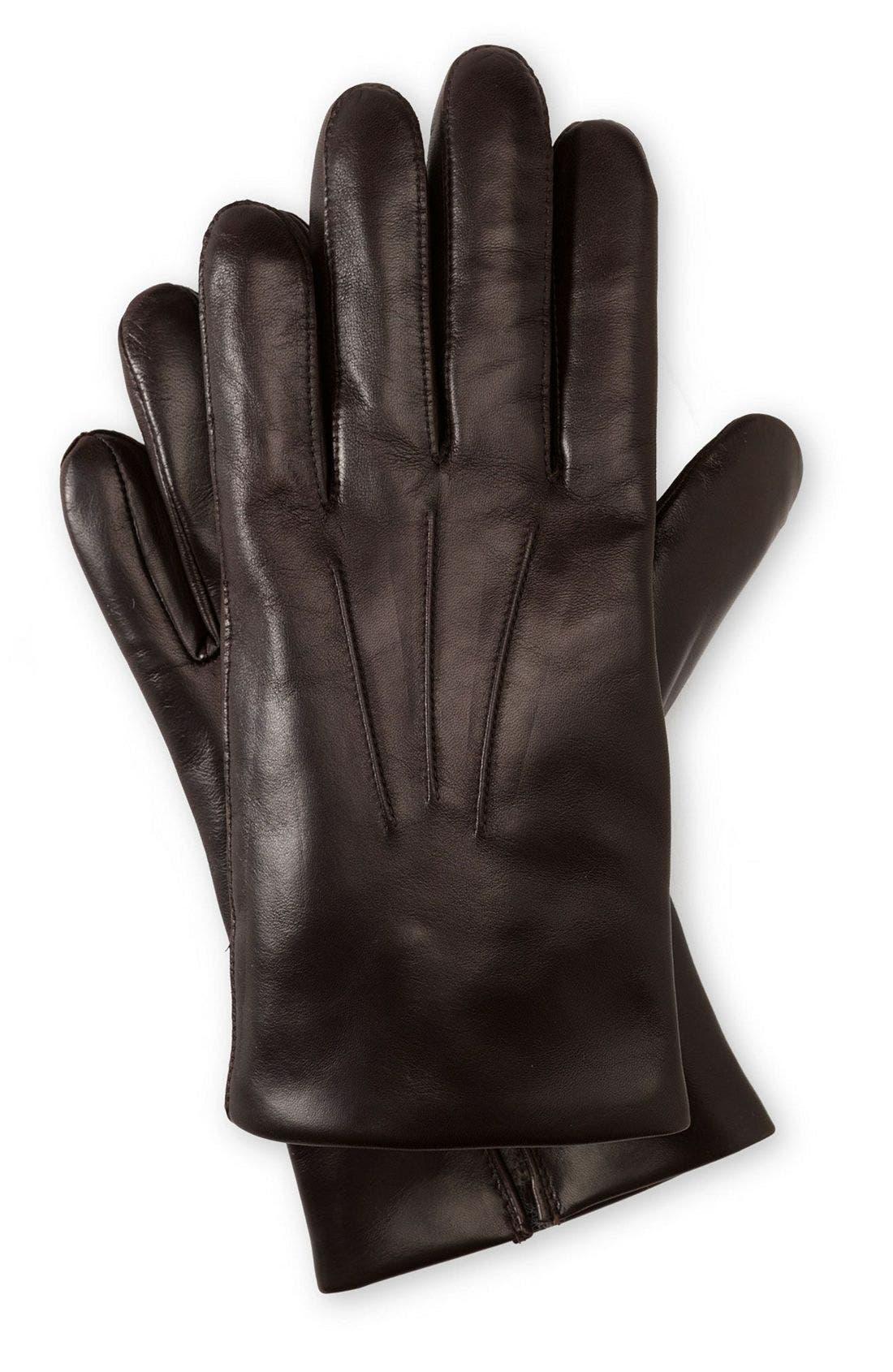 Alternate Image 1 Selected - John W. Nordstrom® Cashmere Lined Leather Gloves
