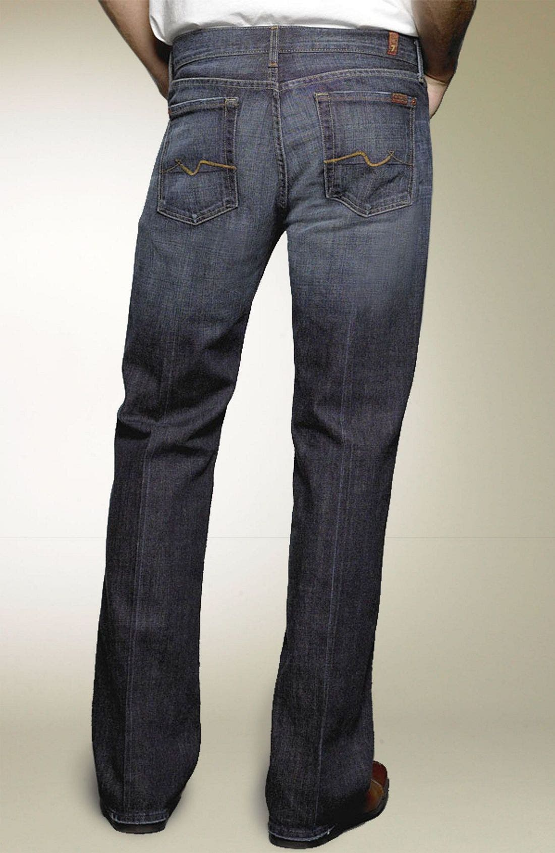 Main Image - 7 For All Mankind® Bootcut Jeans (Dark New York)