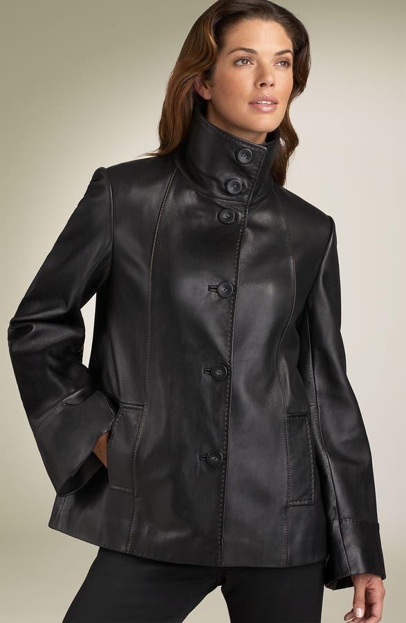 Jones New York Leather Swing Coat | Nordstrom