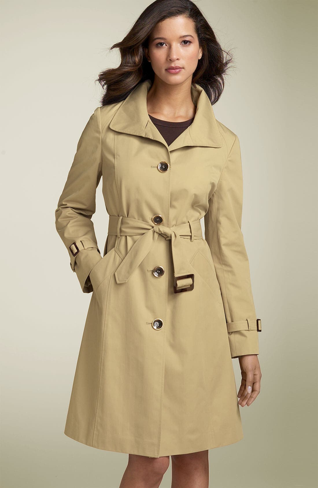 Alternate Image 1 Selected - Ellen Tracy Wing Collar Trench Coat