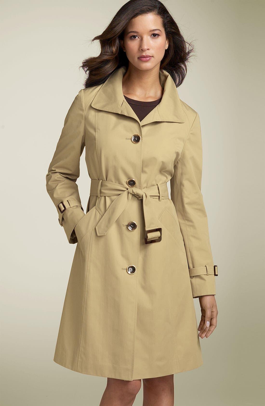 Main Image - Ellen Tracy Wing Collar Trench Coat
