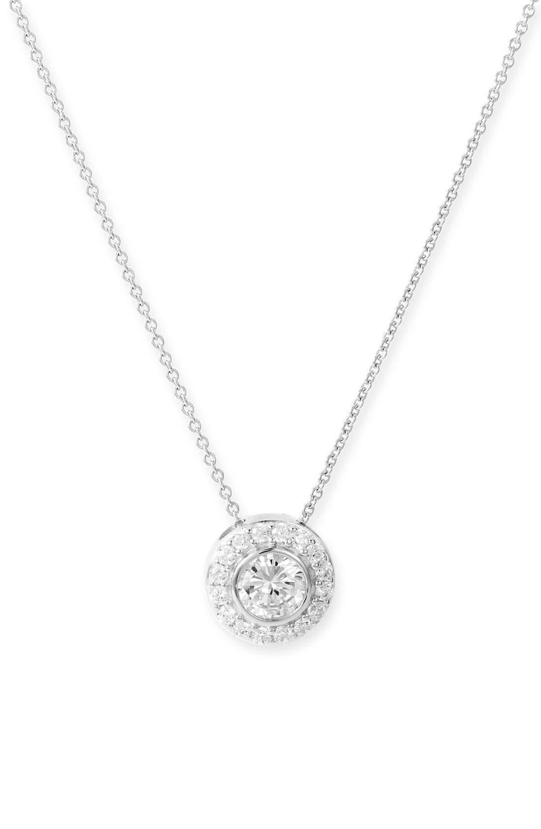 Alternate Image 1 Selected - Nordstrom Bezel Pendant Necklace