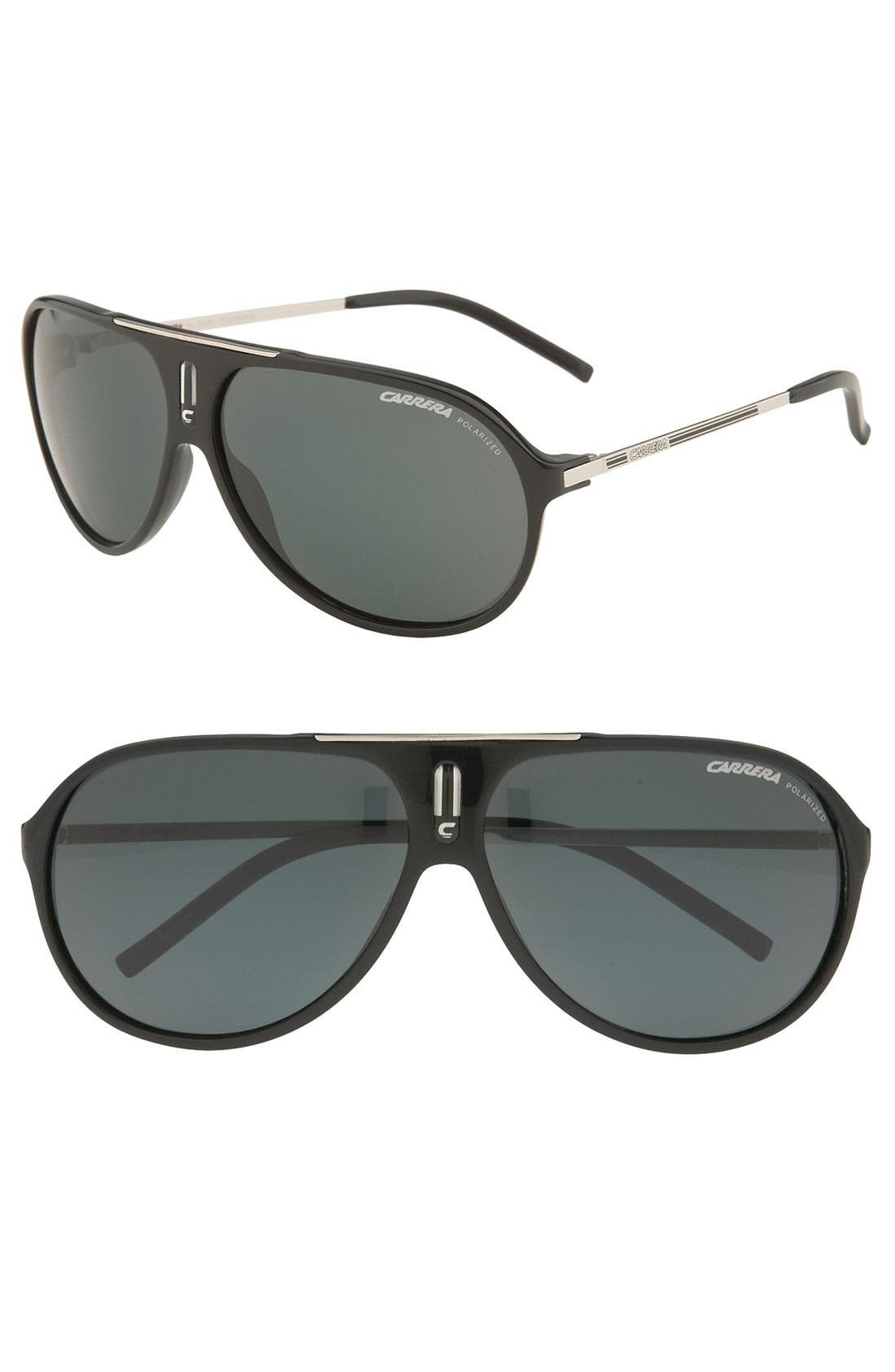Alternate Image 1 Selected - Carrera Eyewear 'Hot' 64mm Polarized Vintage Inspired Aviator Sunglasses