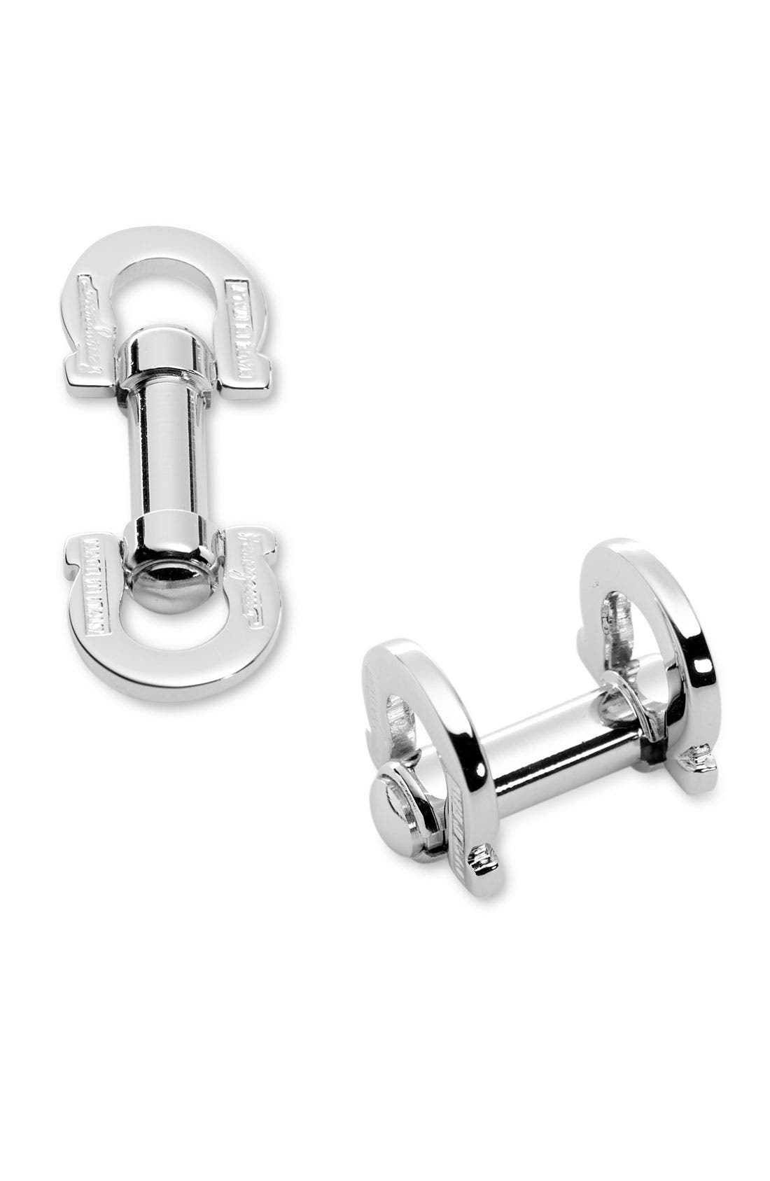 Main Image - Salvatore Ferragamo Gancini Cuff Links