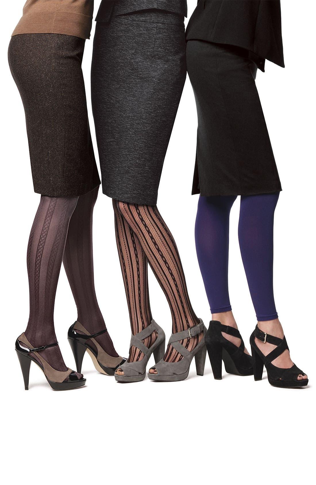 Alternate Image 2  - SPANX® Chain Stripe Tights