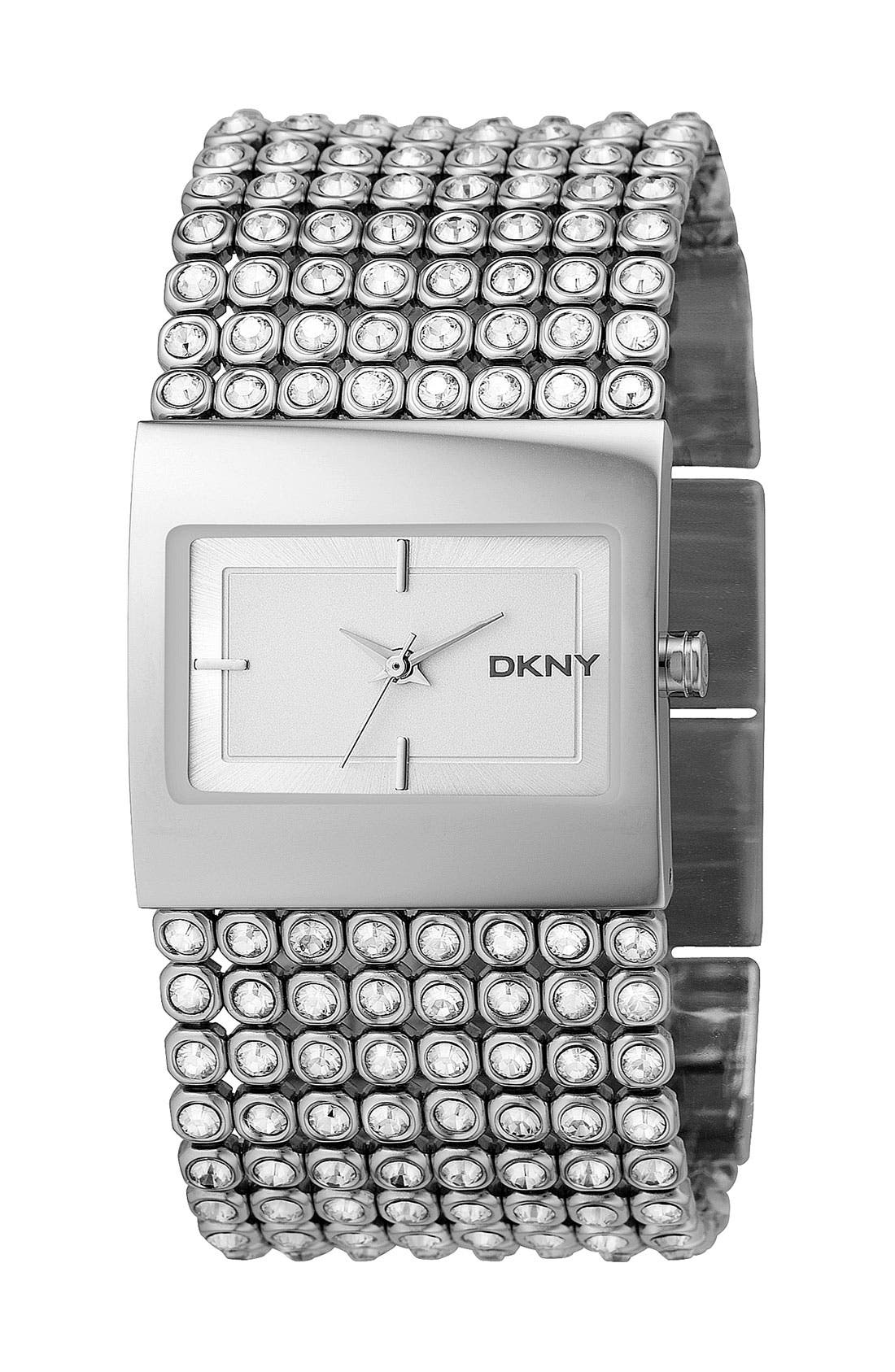 Alternate Image 1 Selected - DKNY Mesh Crystal Bracelet Watch
