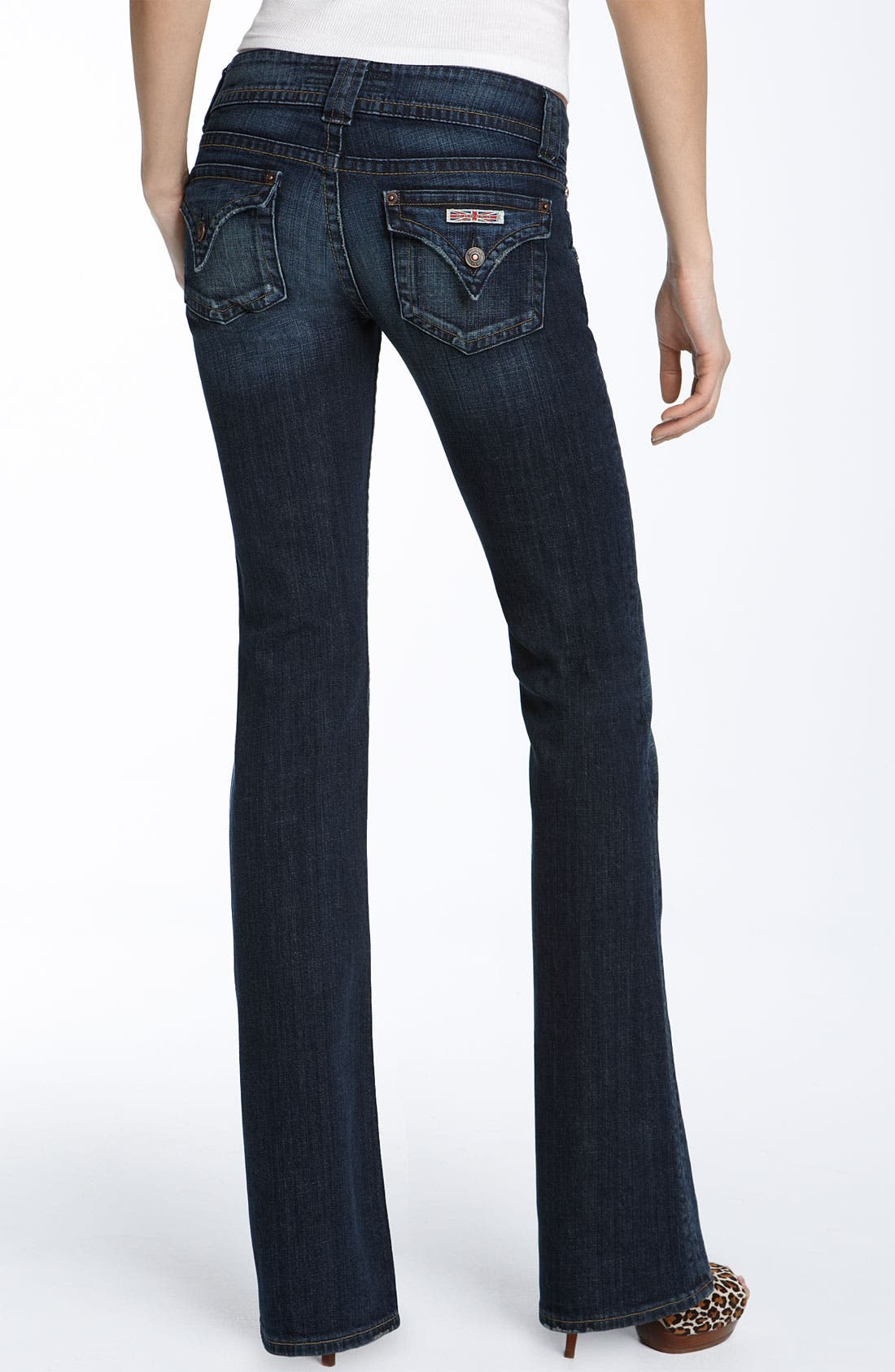 Alternate Image 2  - Hudson Jeans Triangle Pocket Bootcut Stretch Jeans (Weiss Wash)