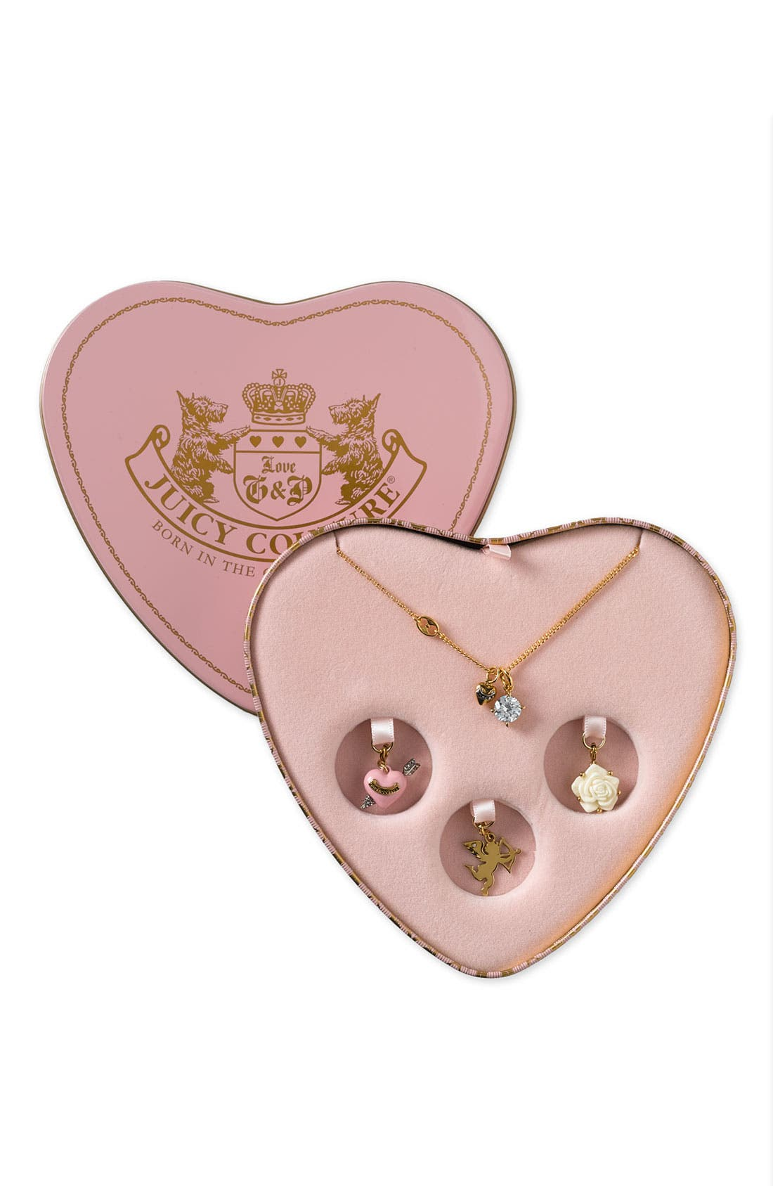 juicy couture charm necklace gift box nordstrom