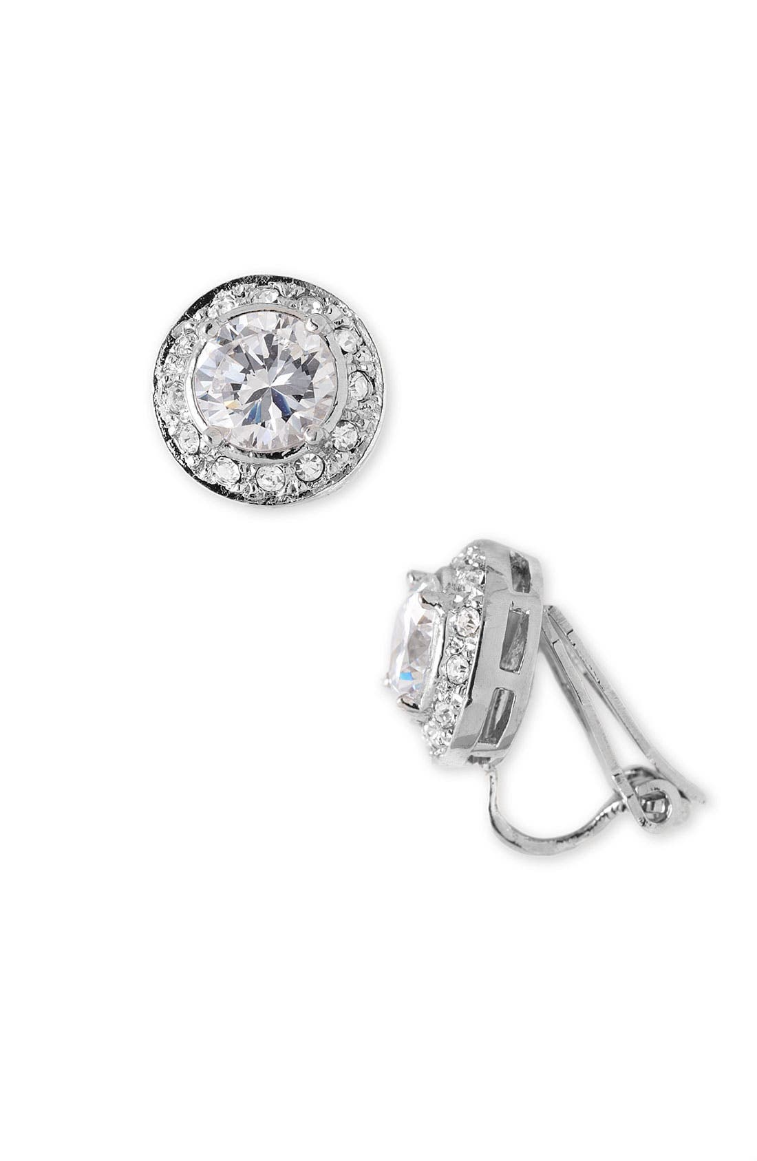 Main Image - Nadri Pavé Crystal Bezel Clip Earrings