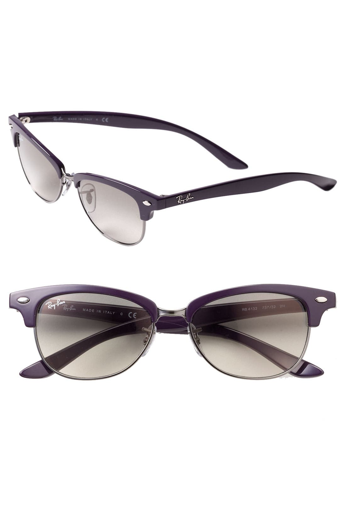 Main Image - Ray-Ban 'Clubmaster Cat' 52mm Sunglasses