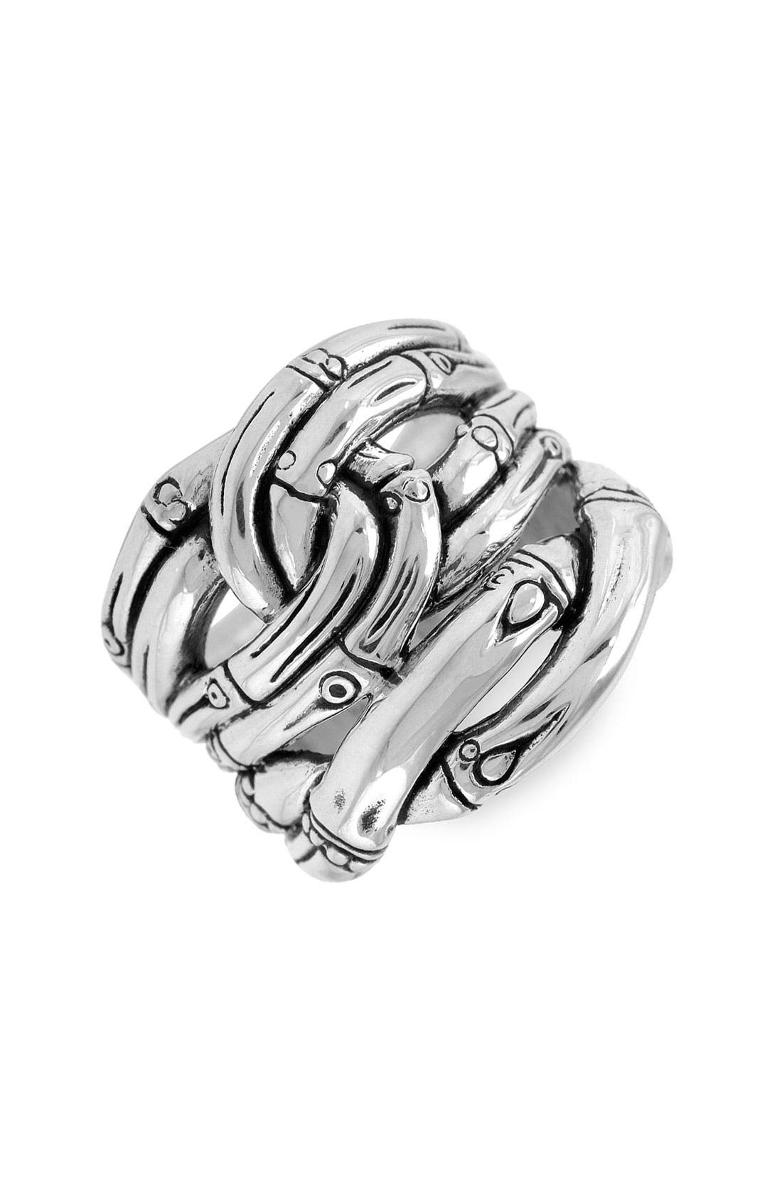 Alternate Image 1 Selected - John Hardy 'Bamboo' Woven Silver Ring
