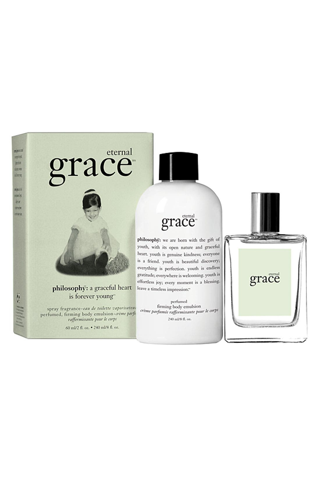 Main Image - philosophy 'eternal grace' spray fragrance & firming body emulsion ($62 Value)