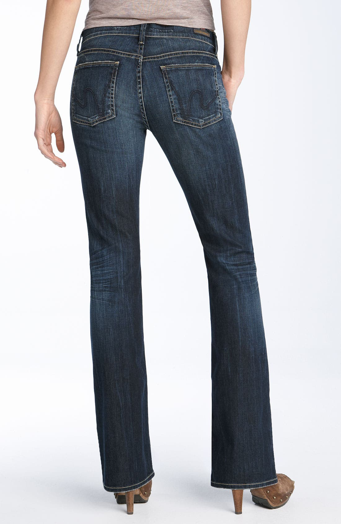 Alternate Image 1 Selected - Citizens of Humanity 'Dita' Bootcut Stretch Jeans (Saint Wash) (Petite)