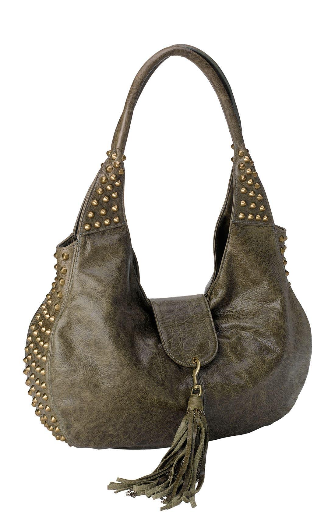Alternate Image 1 Selected - Cassandra LA 'Naho' Tassel Flap Leather Hobo